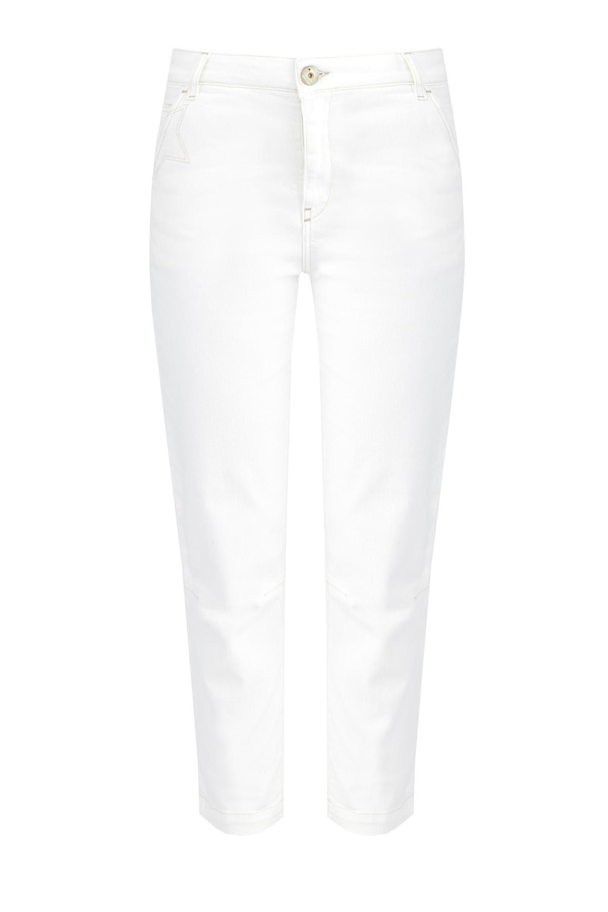 Купить со скидкой Укороченные джинсы-slim с вытачками на коленях
