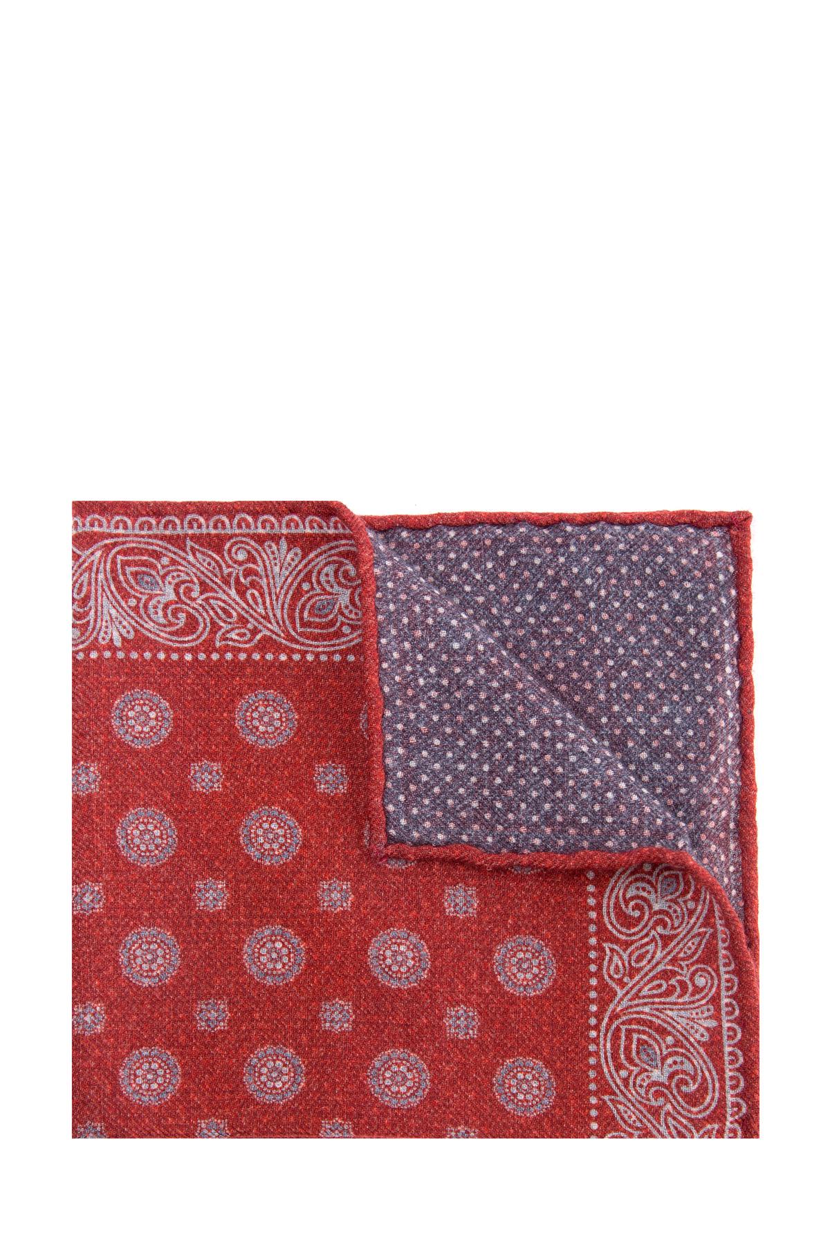 Купить Платок из мягкой шерстяной фланели красного цвета, BRUNELLO CUCINELLI, Италия, шерсть 100%