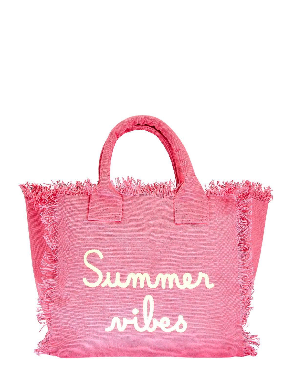 Хлопковая пляжная сумка с вышивкой-леттерингом
