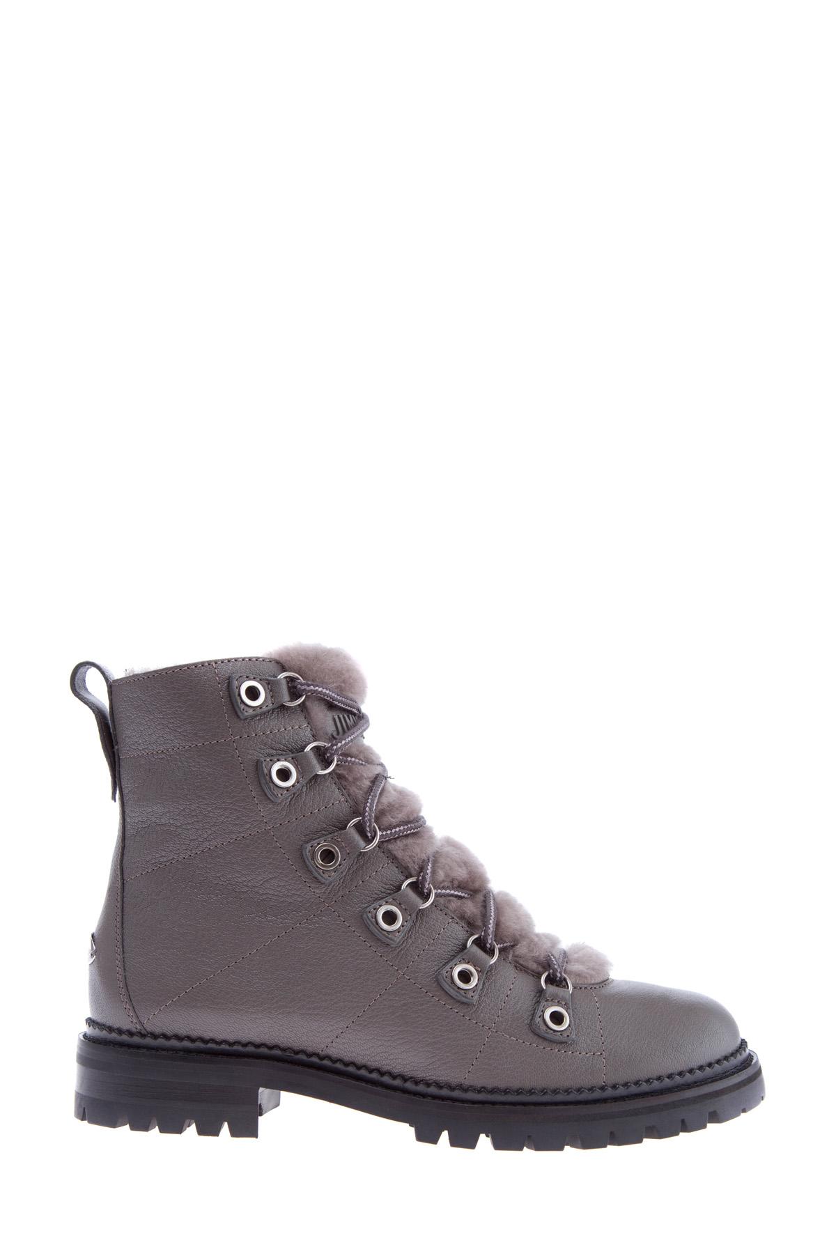 Купить Ботинки, JIMMY CHOO, Италия, кожа 100%, мех 100%