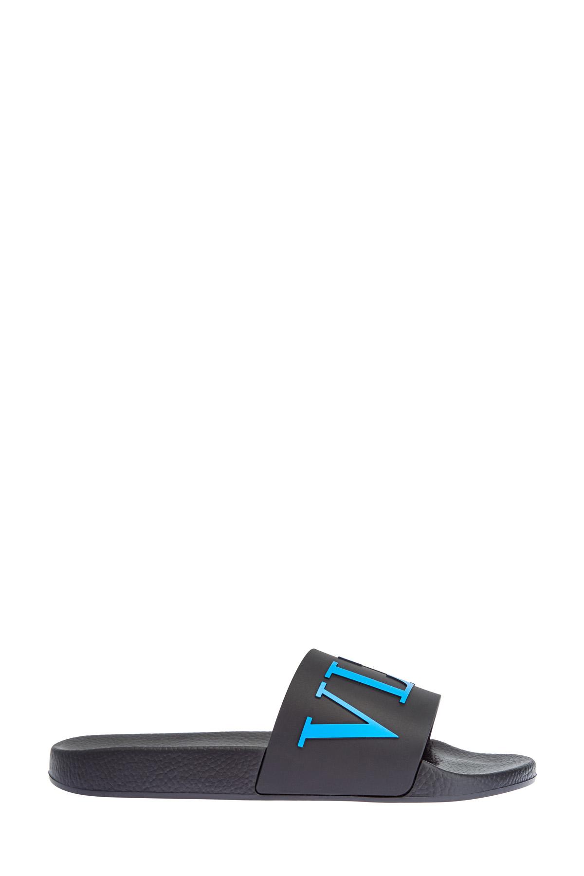 Шлепанцы с объемным принтом VLTN