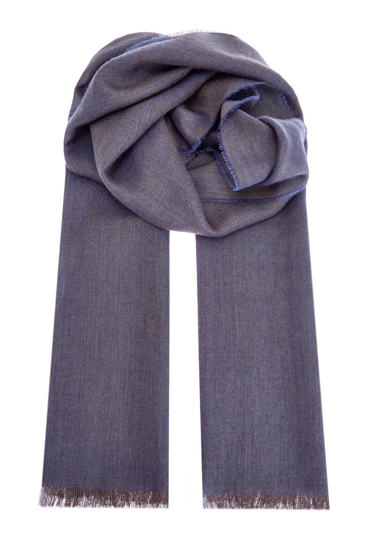 Кашемировый шарф из пряжи двух оттенков