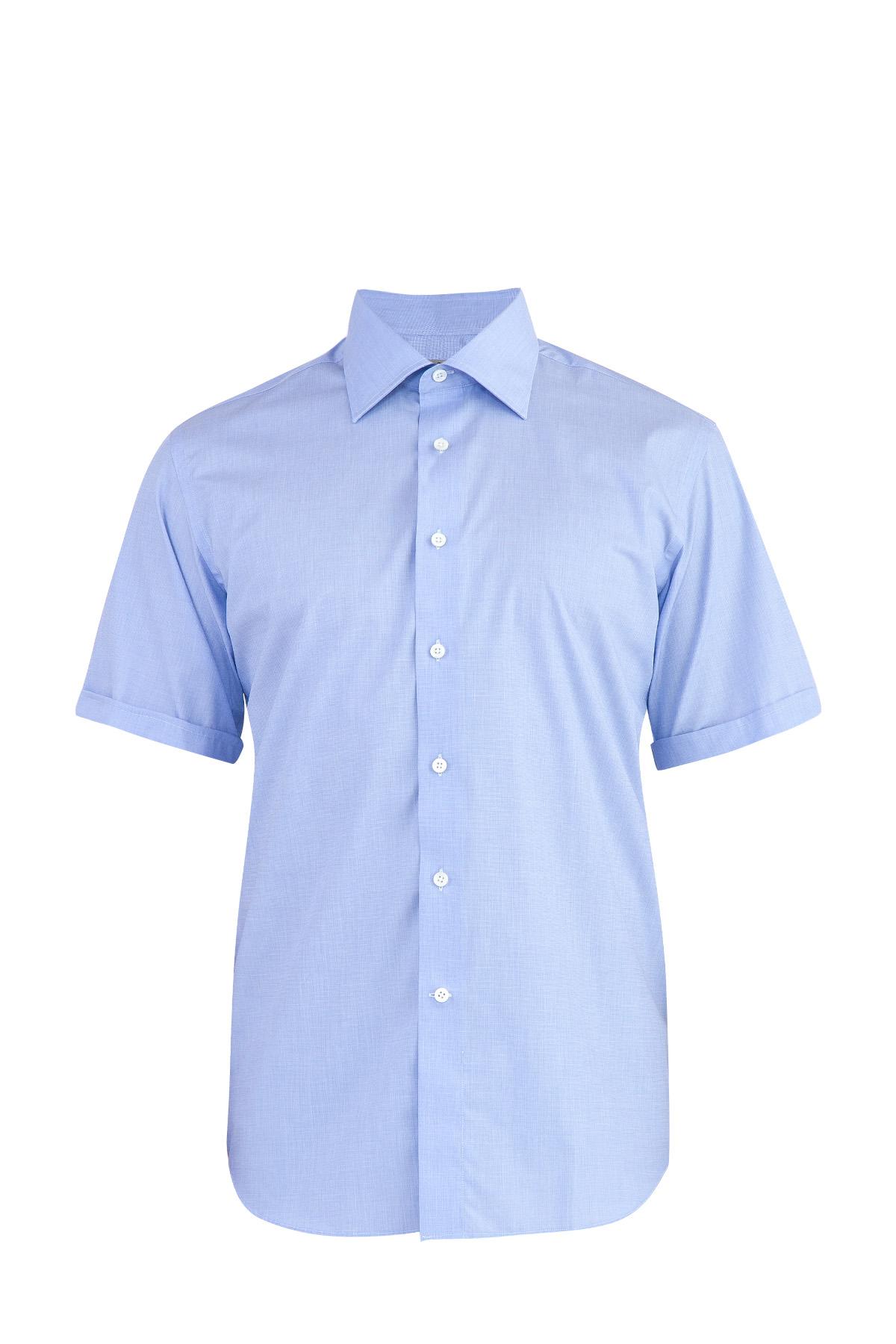 Хлопковая рубашка в стиле минимализм