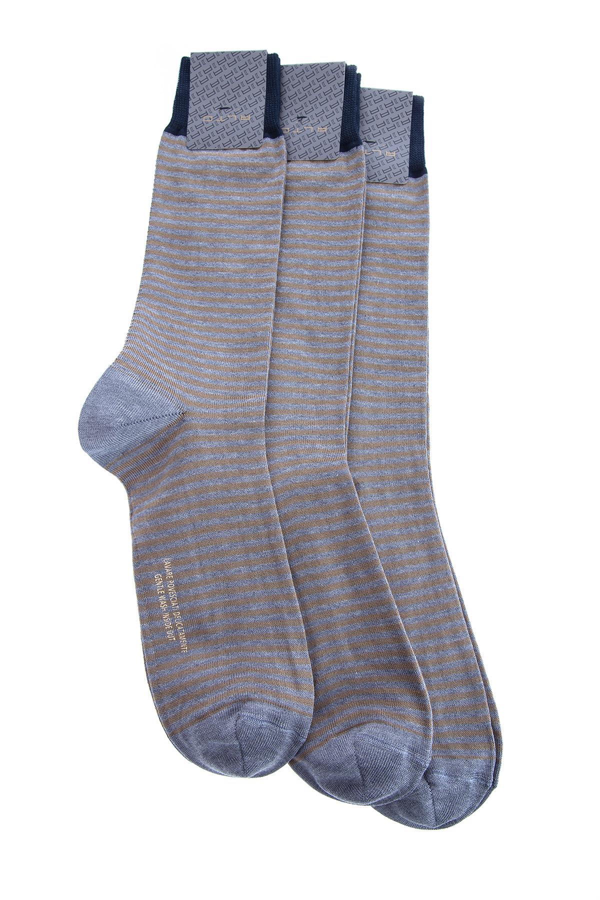 Купить Комплект носков, ALTO MILANO, Италия, хлопок 80%, полиамид 18%, эластан 2%
