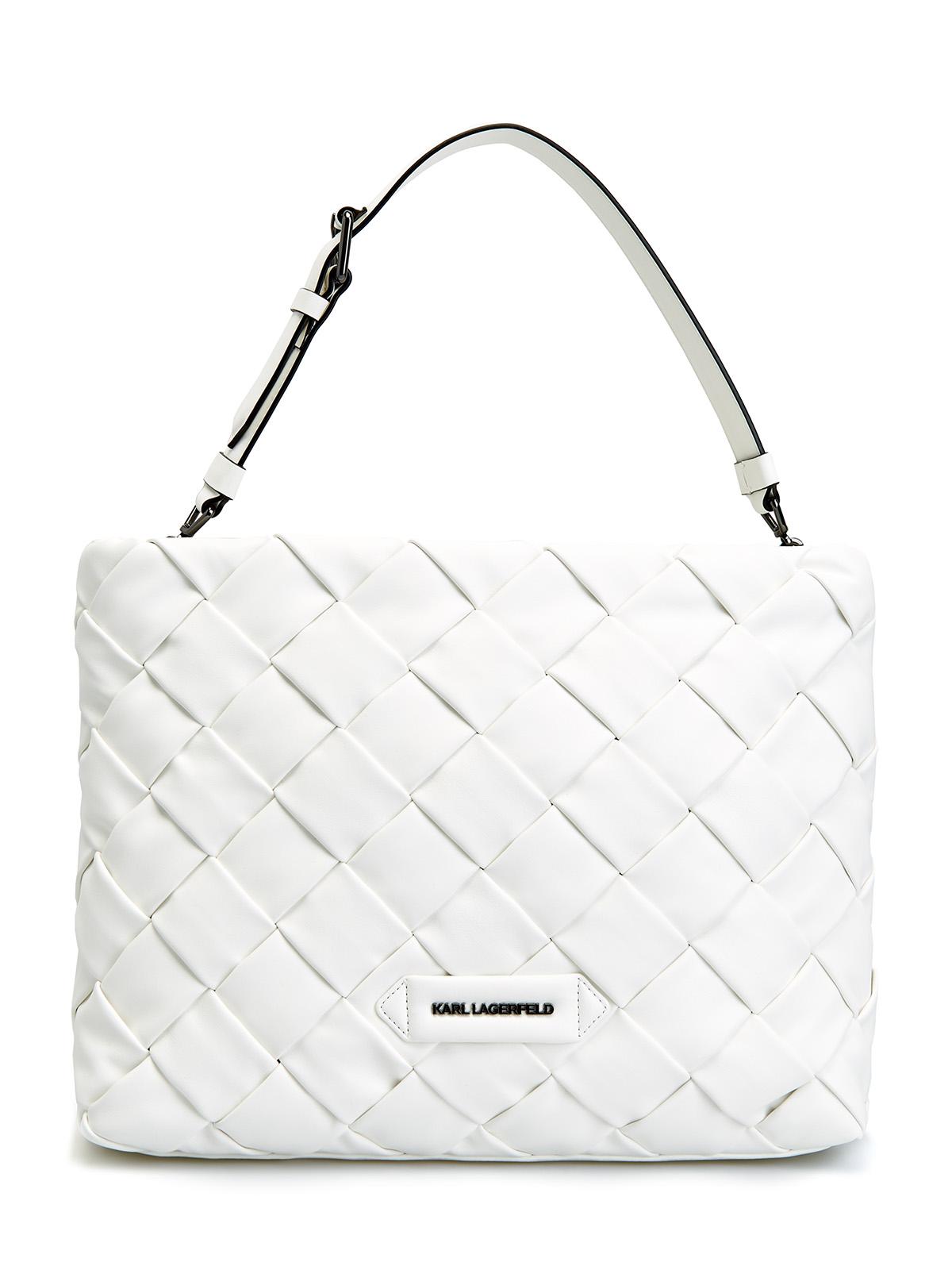 Белая сумка-тоут с объемной отделкой