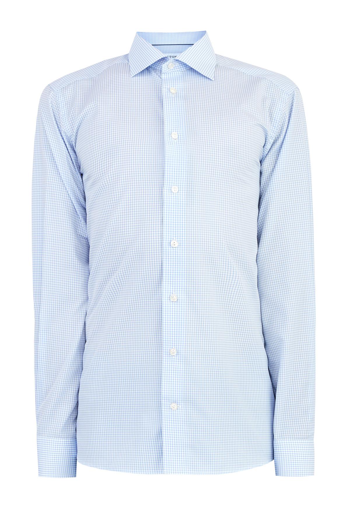 Рубашка в клетку из гладкого поплина классического кроя Contemporary