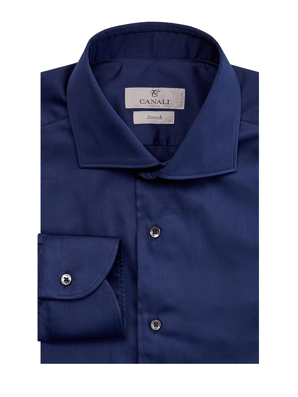 Однотонная рубашка из гладкого хлопка Stretch