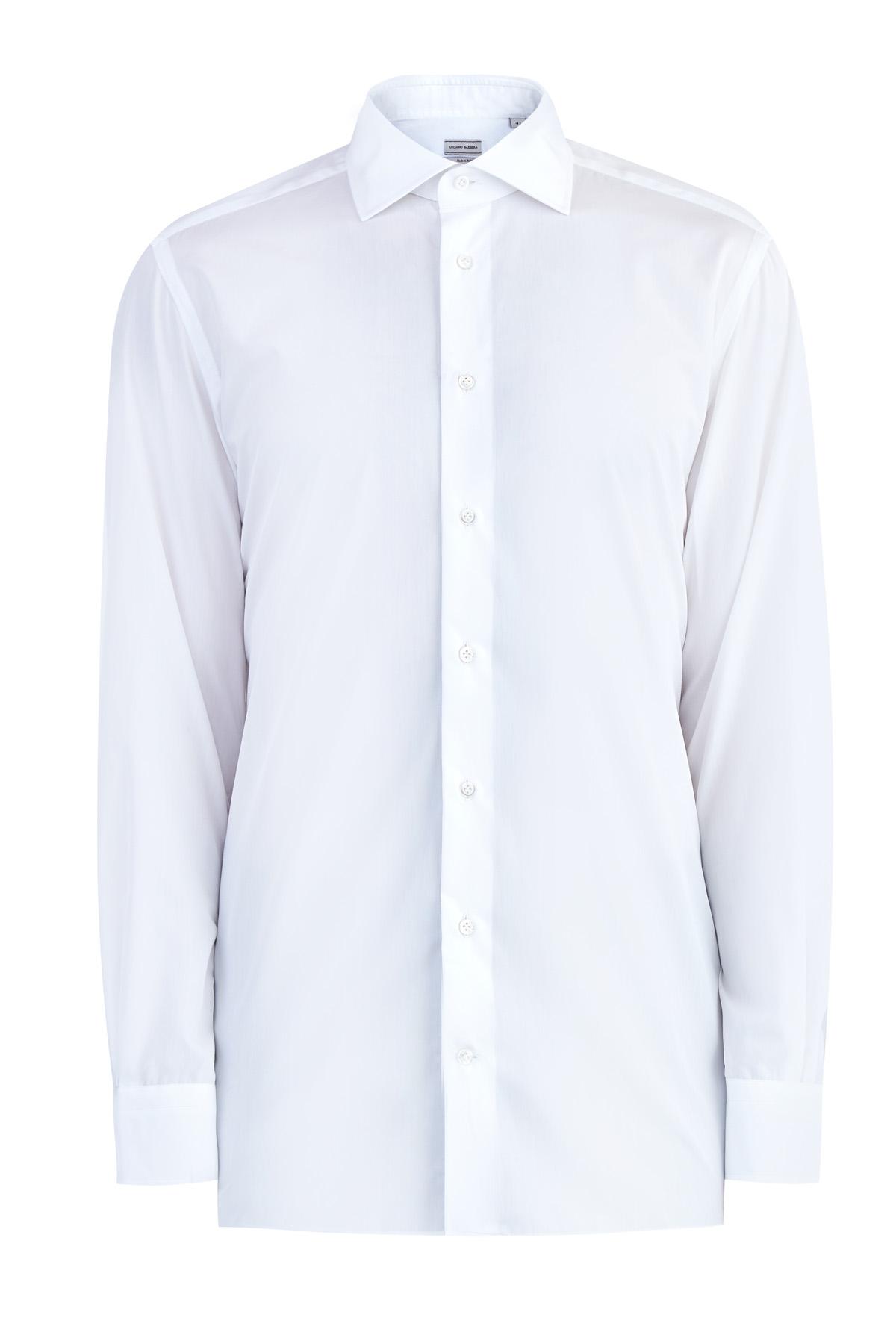 Белая рубашка из хлопкового поплина фото