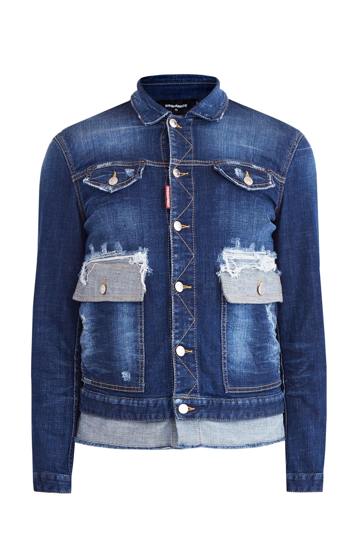 Купить Куртка, DSQUARED2, Италия, хлопок 98%, эластан 2%