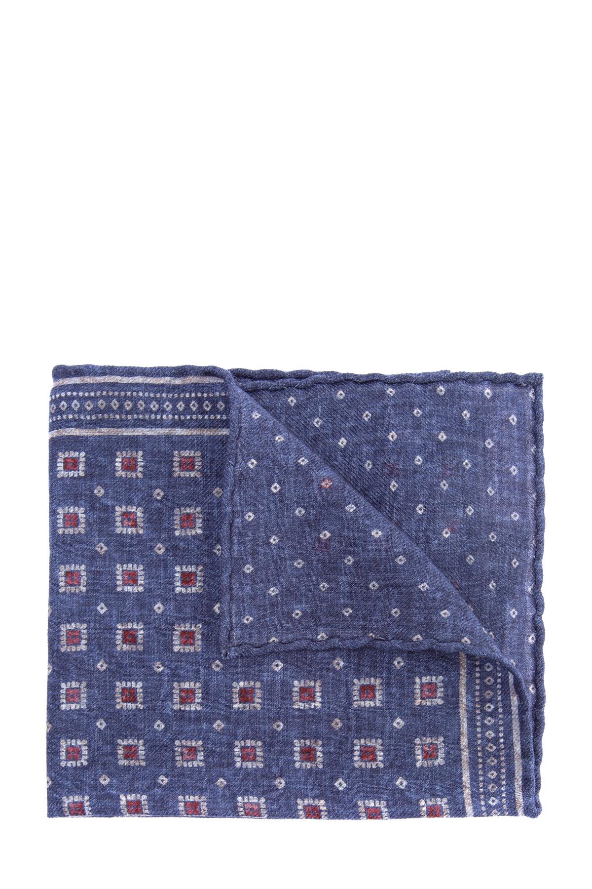 Двусторонний платок-паше из шерстяной ткани фото