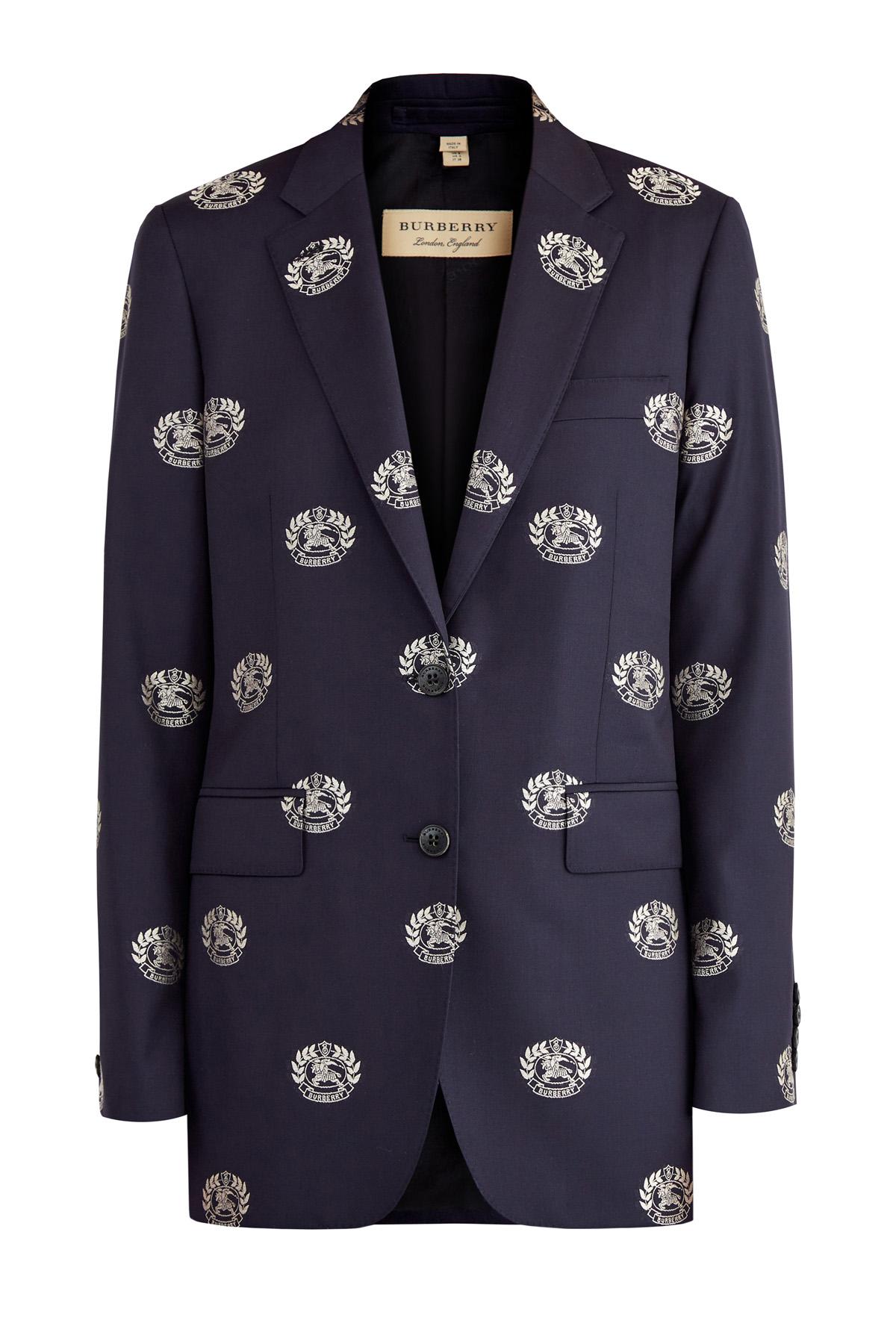 Купить со скидкой Строгий пиджак из итальянской шерсти с принтом Prorsum
