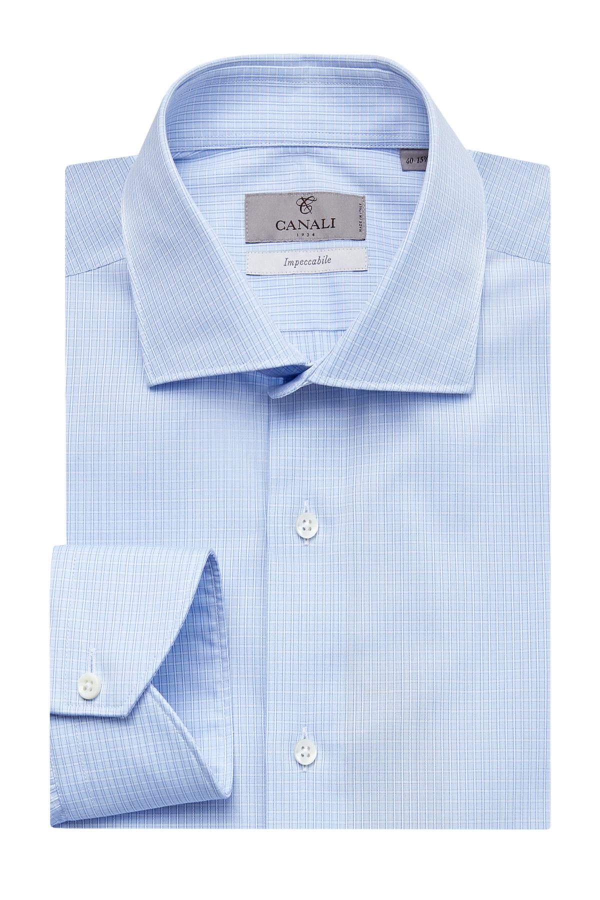 Рубашка с принтом в клетку из хлопка Impeccabile