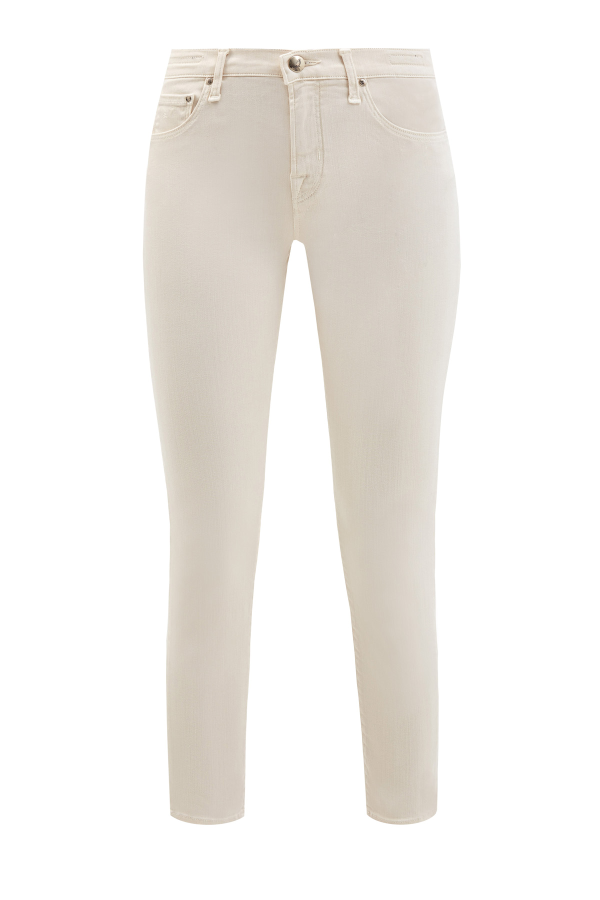 Укороченные джинсы-skinny c окрашиванием ручной работы