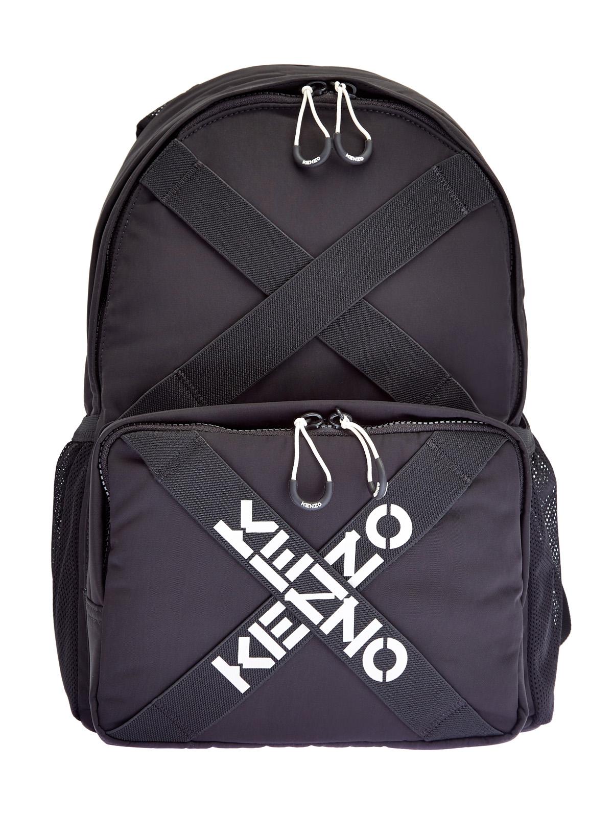 Рюкзак из легкого нейлона с принтом-монограммой