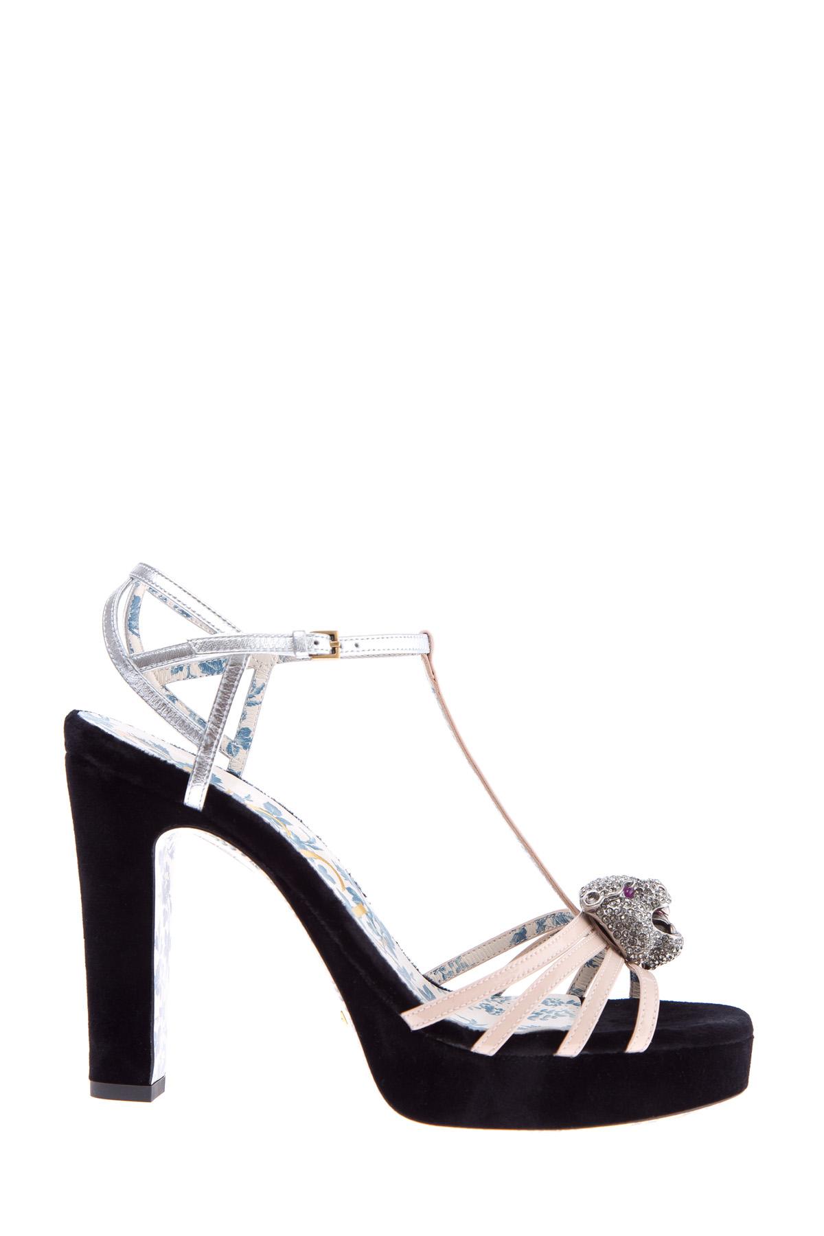 женские босоножки на каблуке gucci