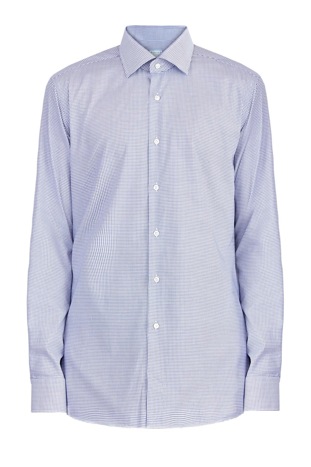 Рубашка из хлопка Wrinkle Free с микро-принтом в клетку