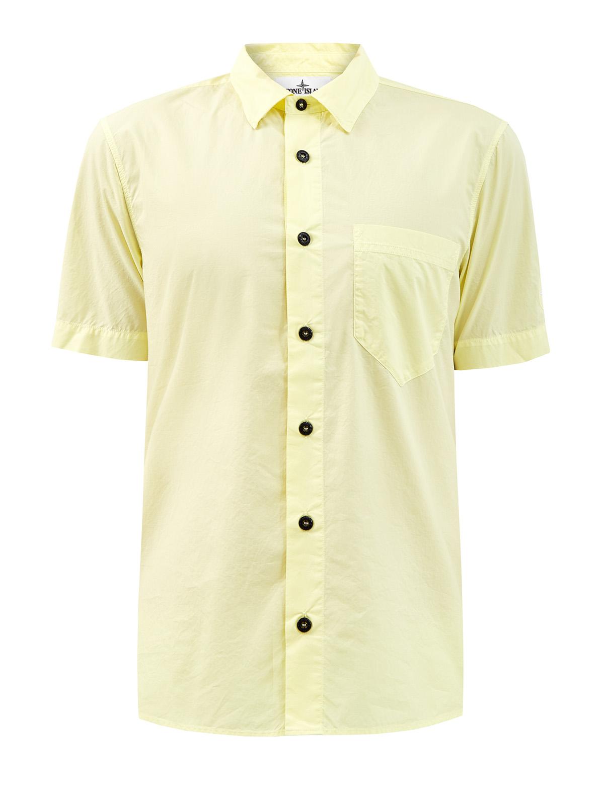Рубашка slim-fit из легкого хлопка с вышитым логотипом