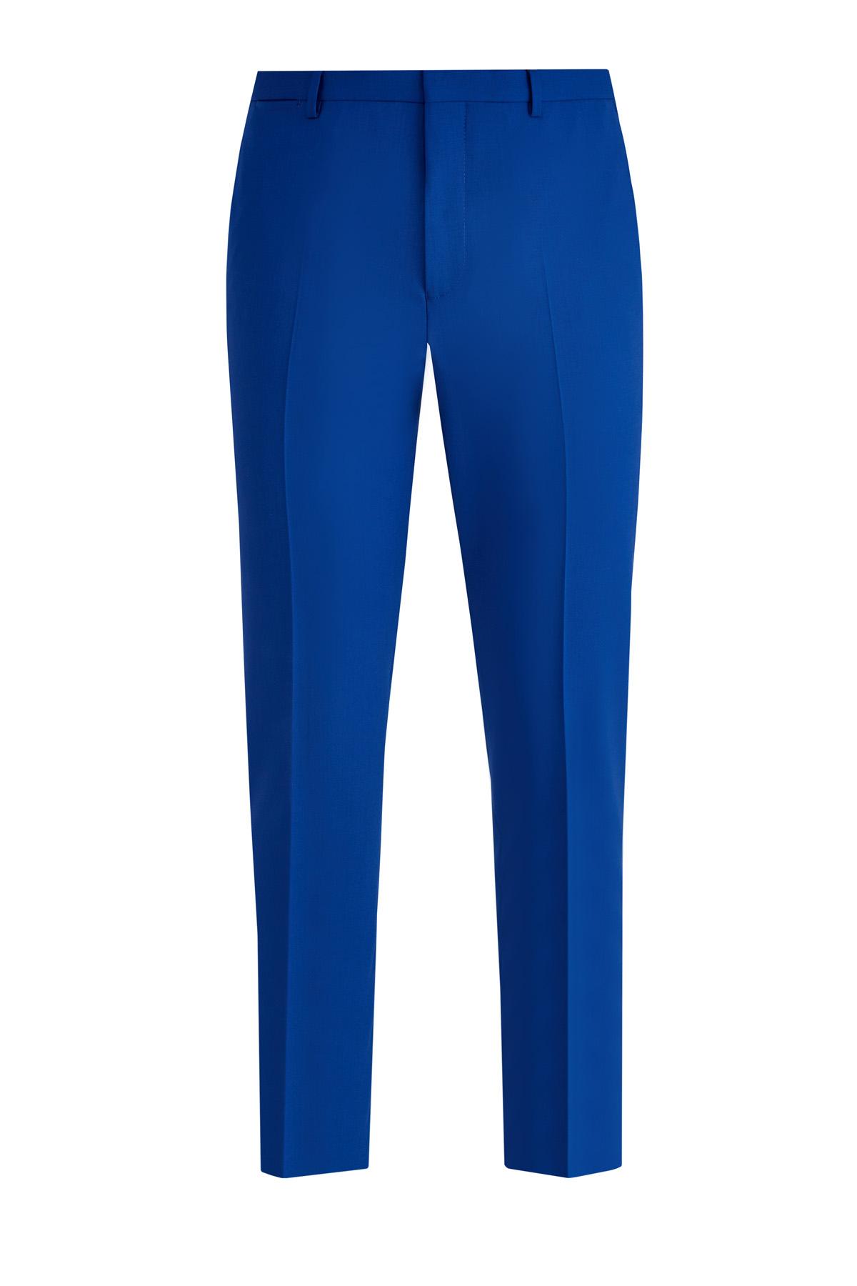 Прямые брюки в классическом стиле из легкой шерстяной ткани фото