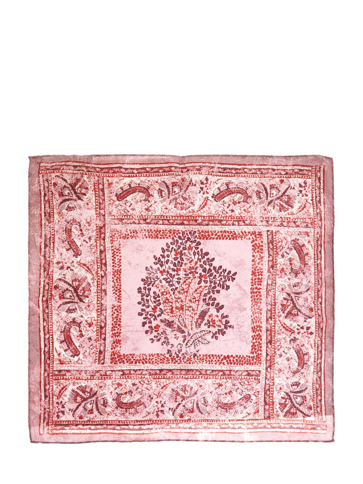 Шелковый платок-паше с отделкой ручной работы