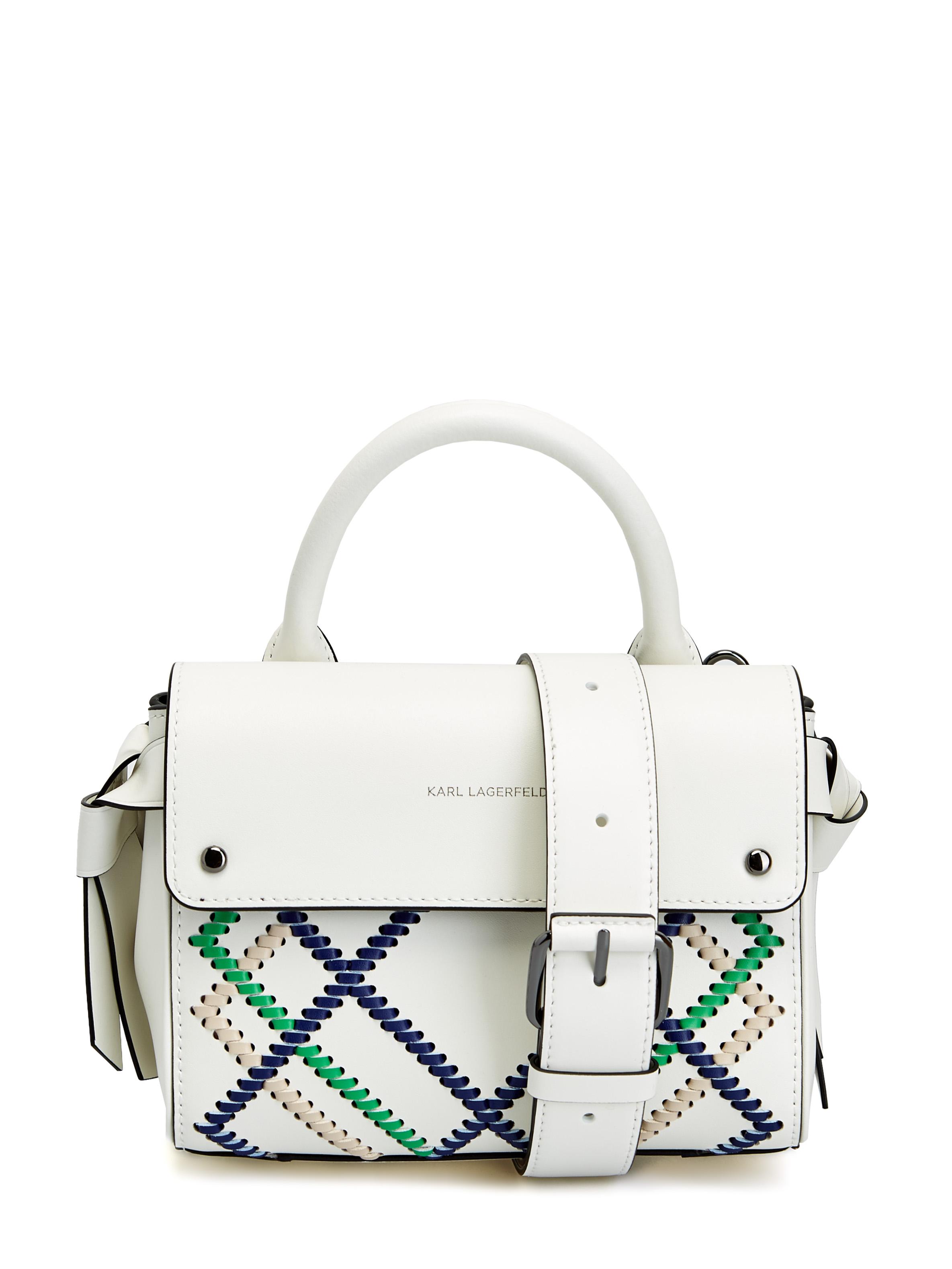 Миниатюрная сумка K/Ikon c декоративной прострочкой