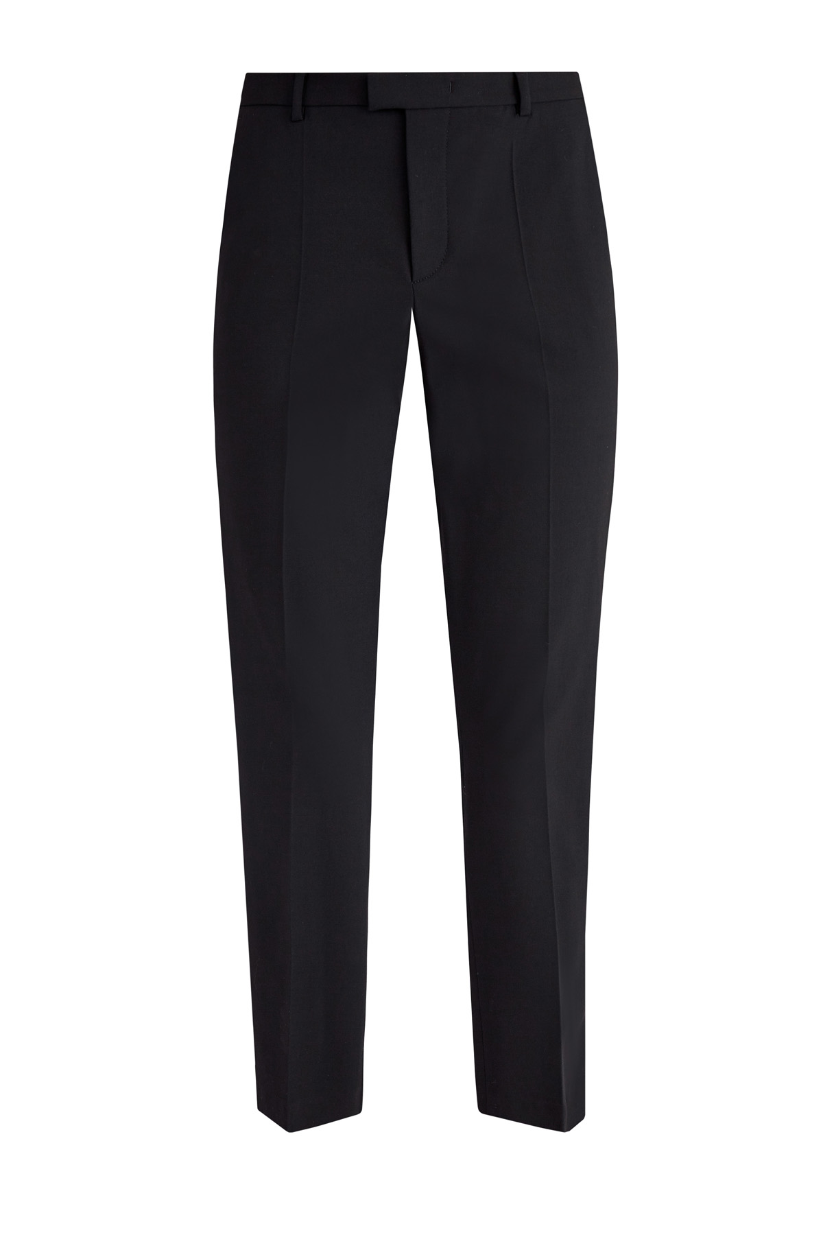 Укороченные брюки в классическом стиле из ткани кади