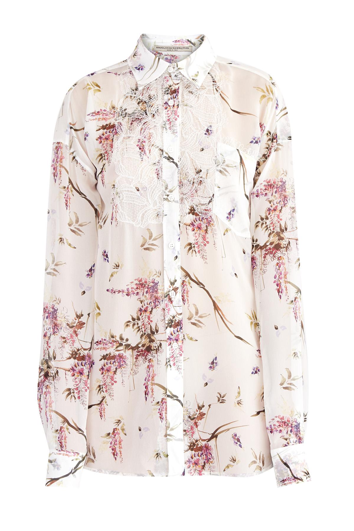 Купить Рубашка, ERMANNO SCERVINO, Италия, шелк 100%
