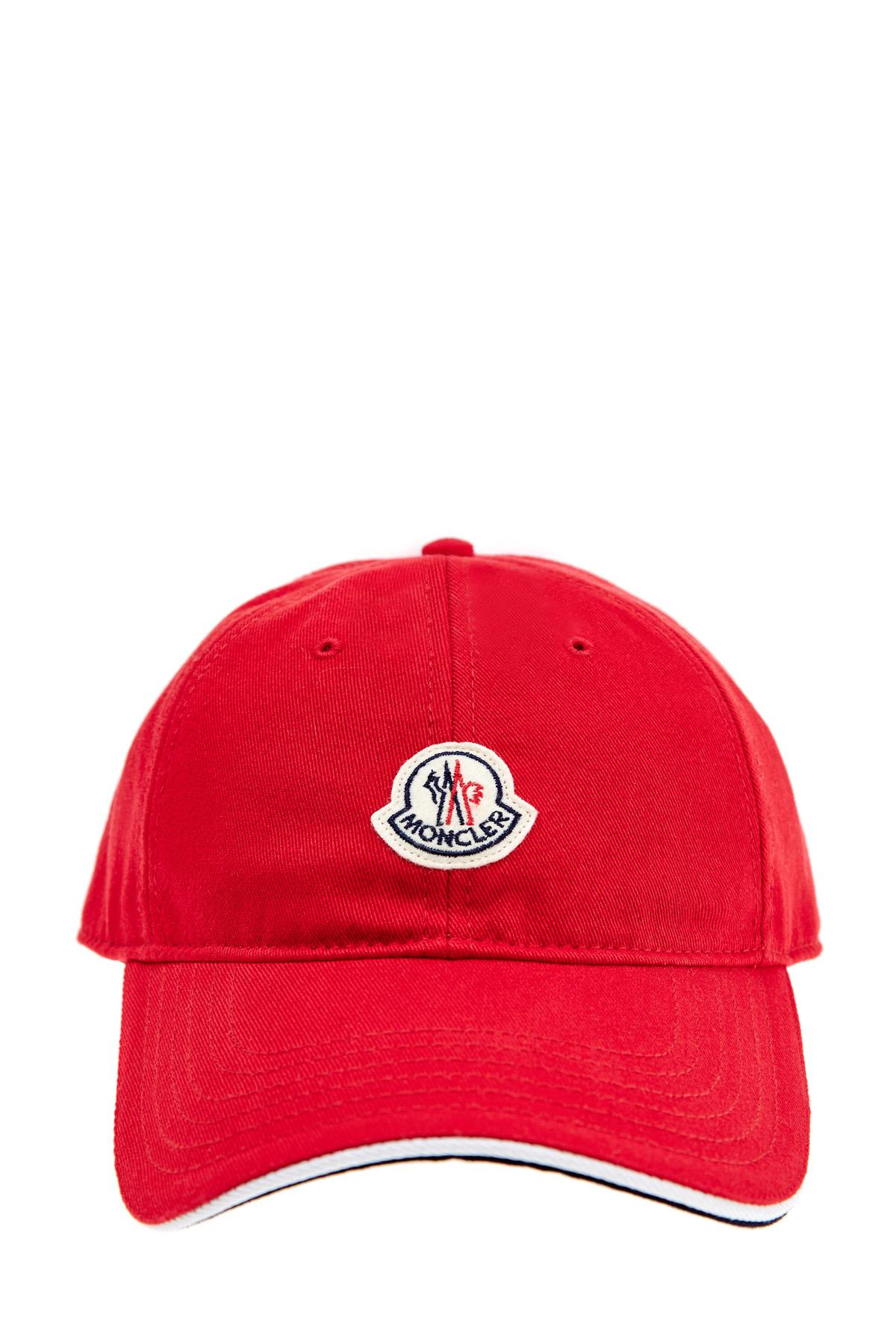 Бейсболка из денима алого цвета с фетровым логотипом