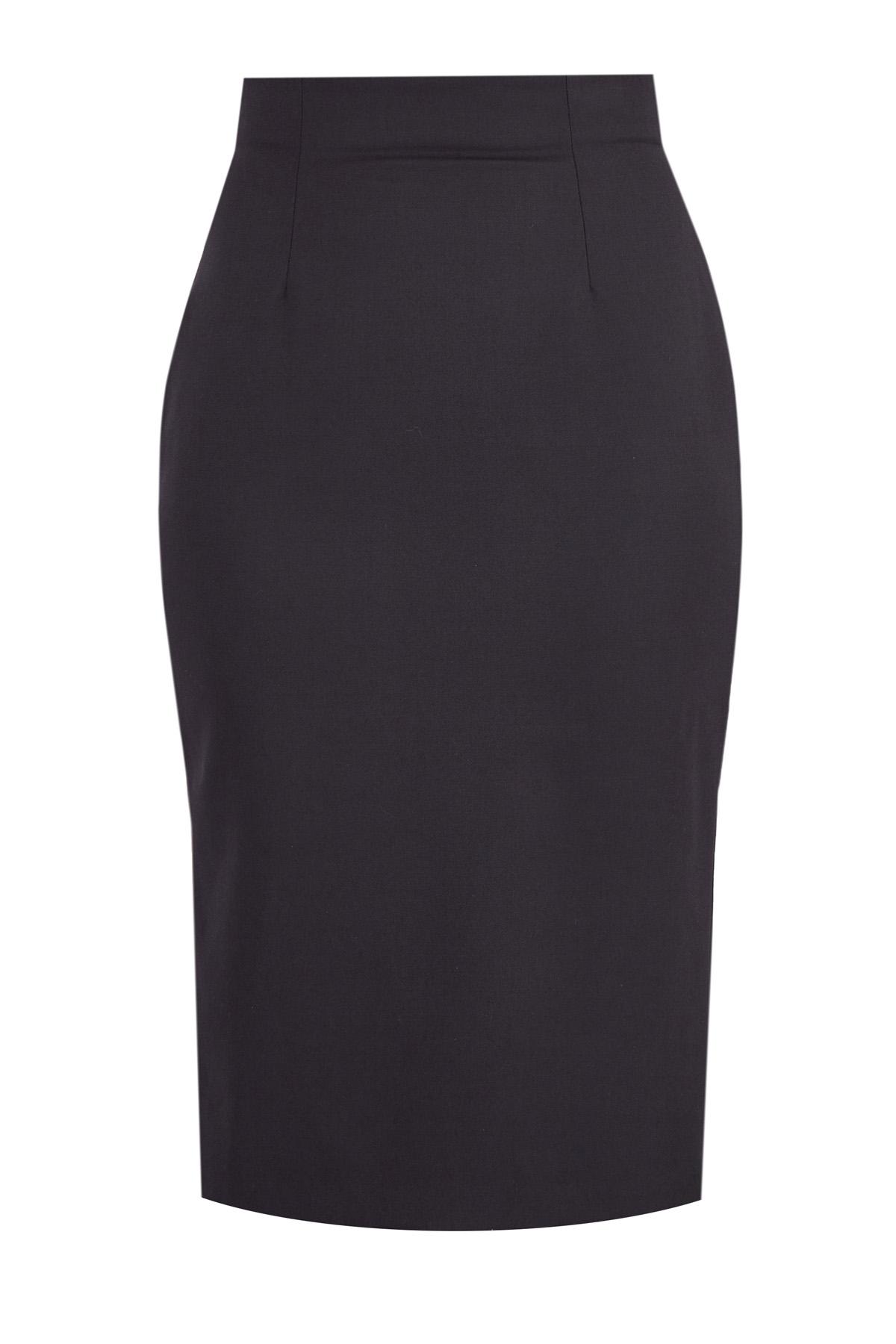 Купить со скидкой Классическая шерстяная юбка-карандаш на высокой талии