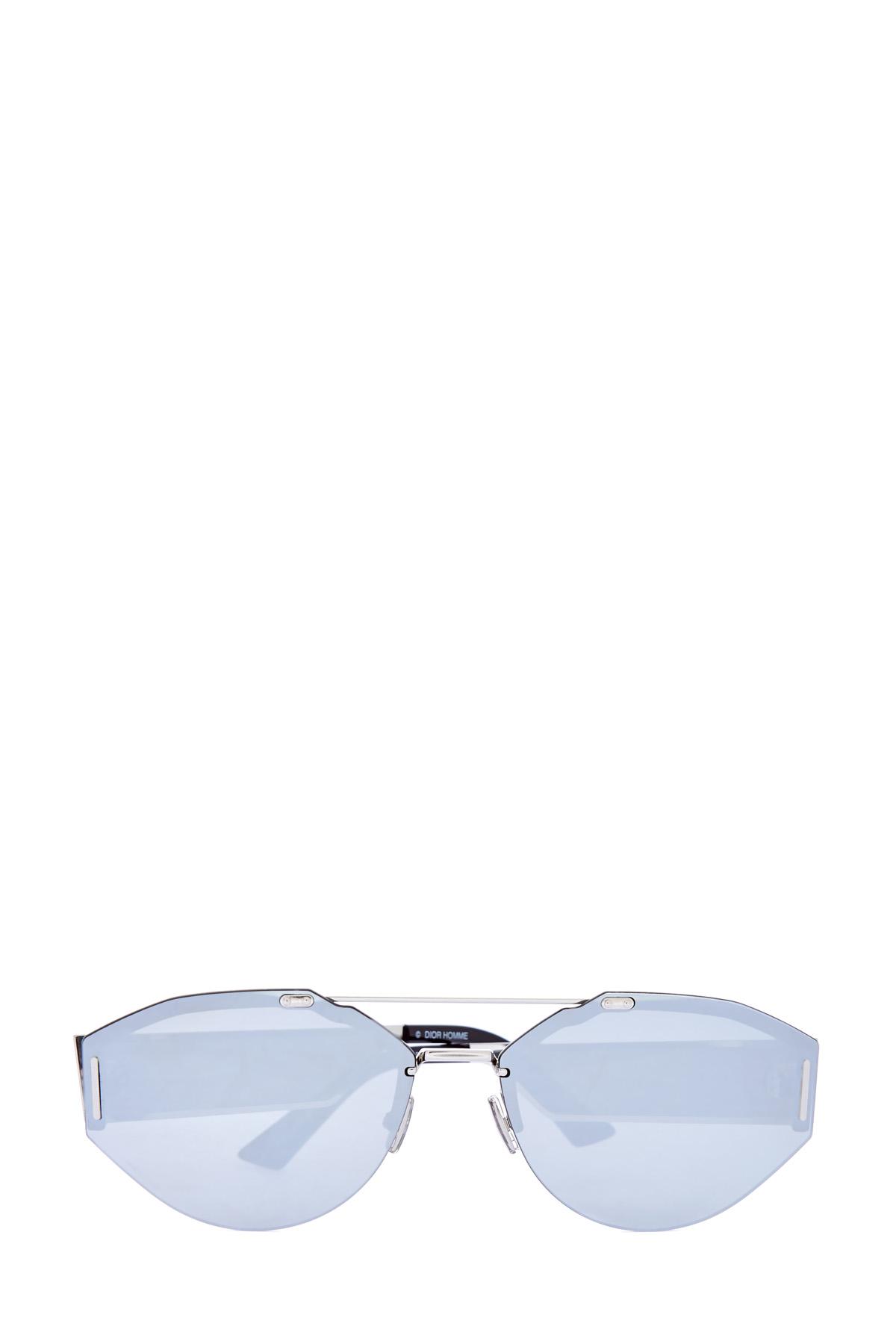 Очки оригинальной формы с прозрачными вставками на дужках