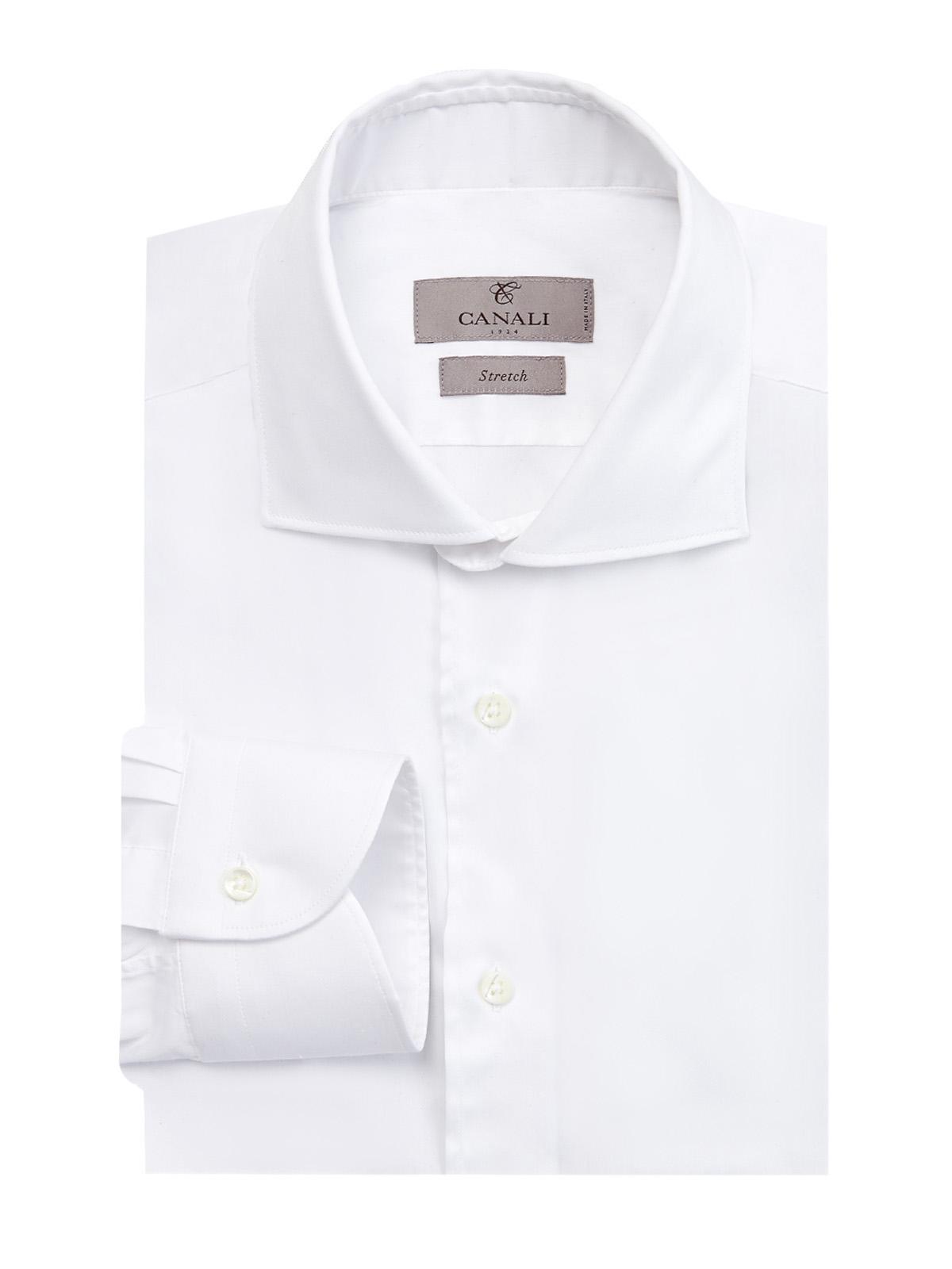 Классическая рубашка из хлопкового поплина stretch