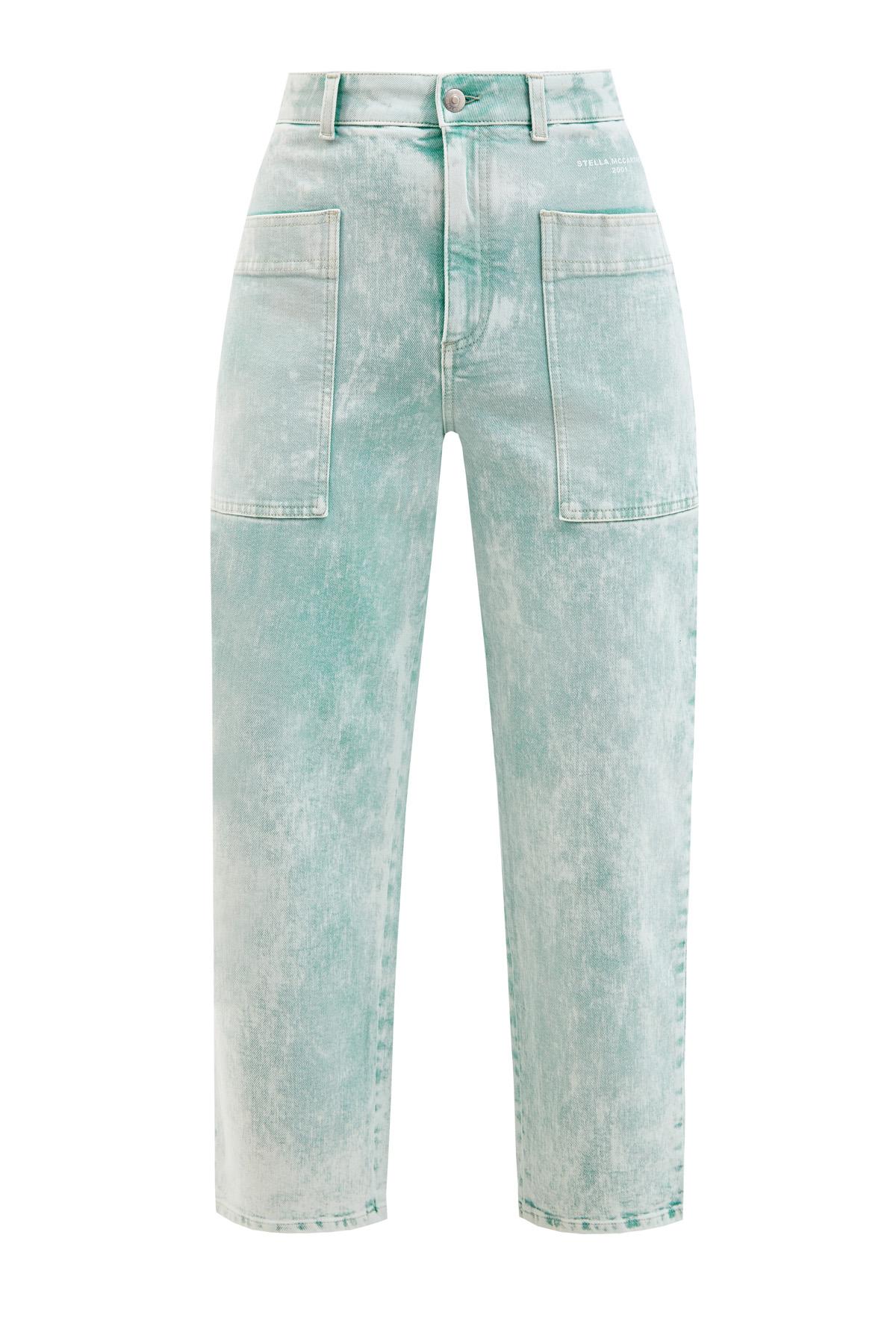 Укороченные джинсы mom's с накладными карманами