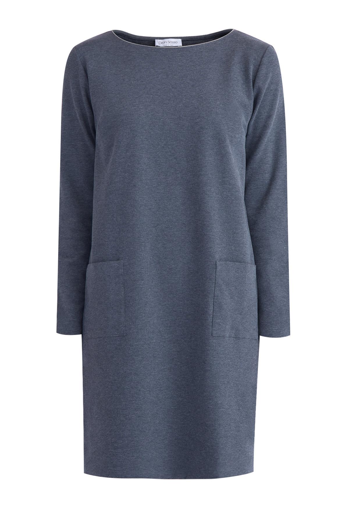 Купить Платье, GRAN SASSO, Италия, хлопок 94%, эластан 6%