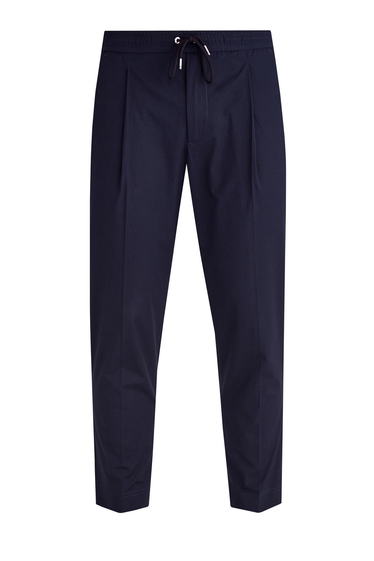 Купить со скидкой Укороченные брюки из габардина с заложенными складками