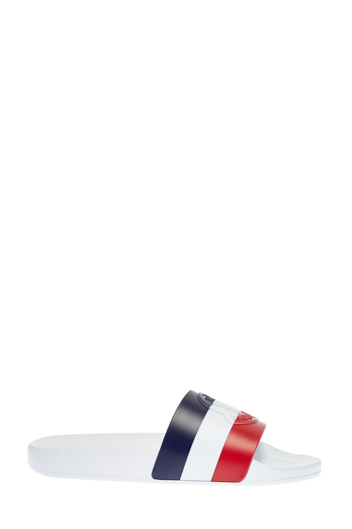 Легкие шлепанцы с анатомической стелькой и объемным логотипом