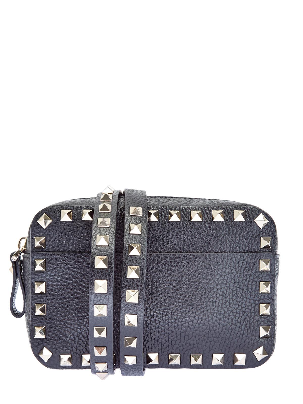 Компактная поясная сумка Rockstud из зернистой кожи