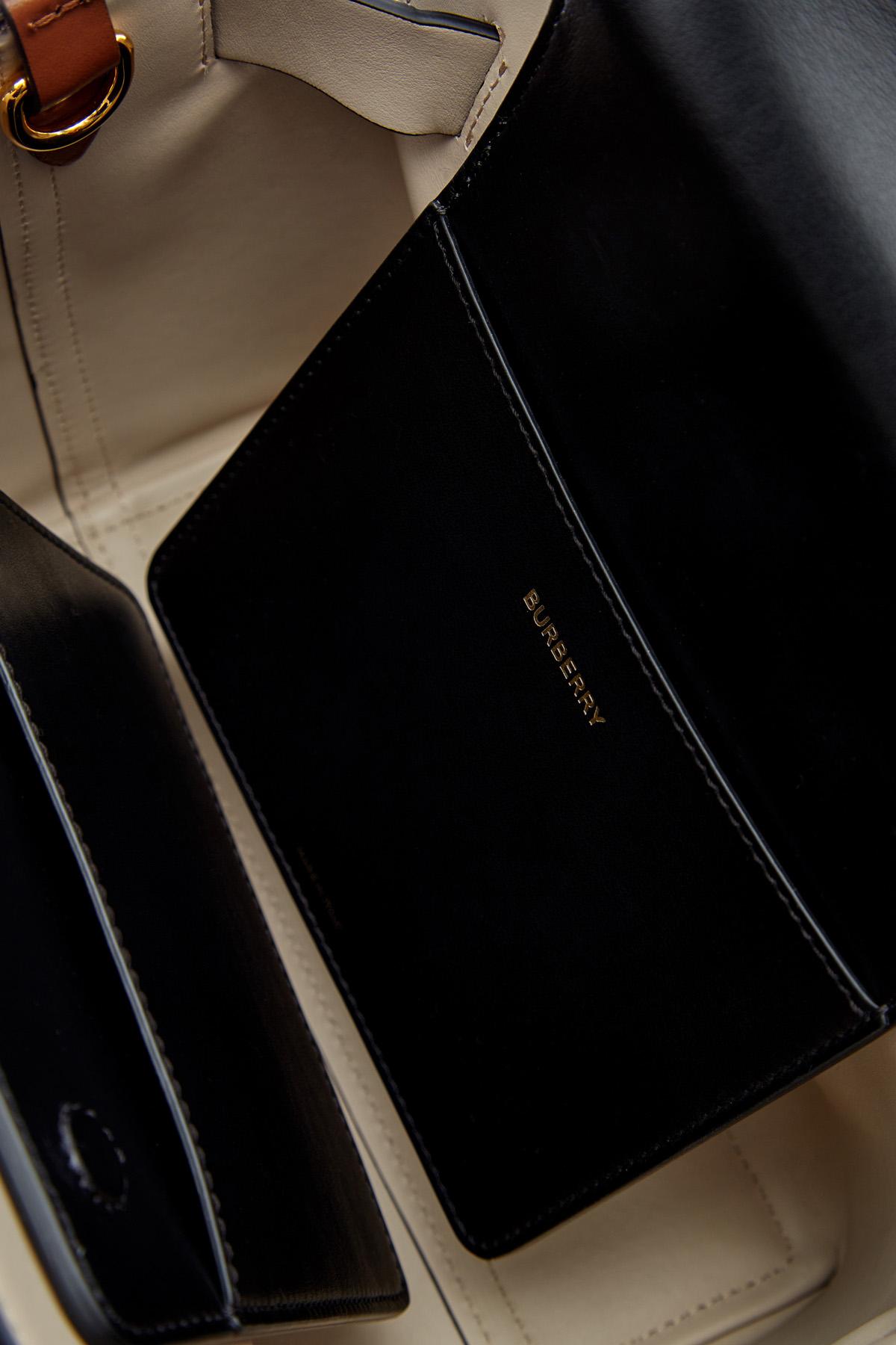 Сумка-тоут из габардина с отделкой из кожи теленка BURBERRY 8015905--a7026 Фото 7