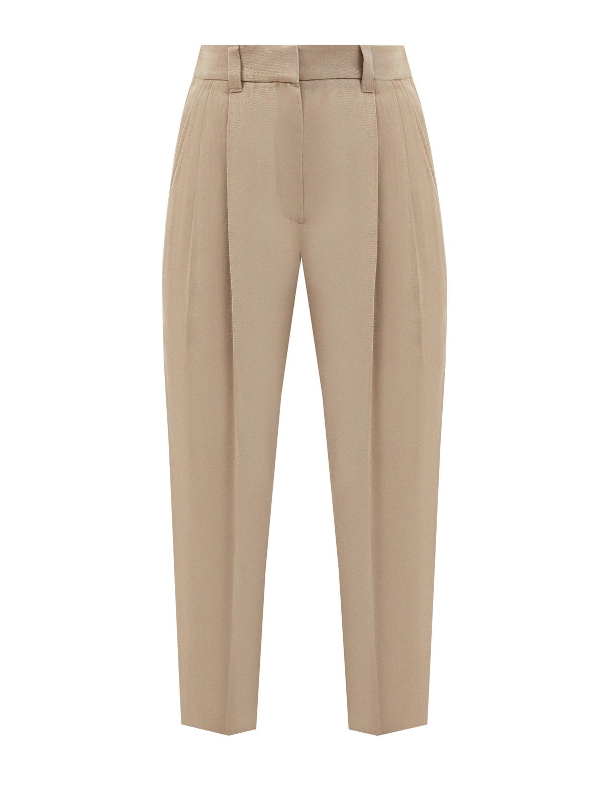 Высокие брюки Tailored с заложенными складками