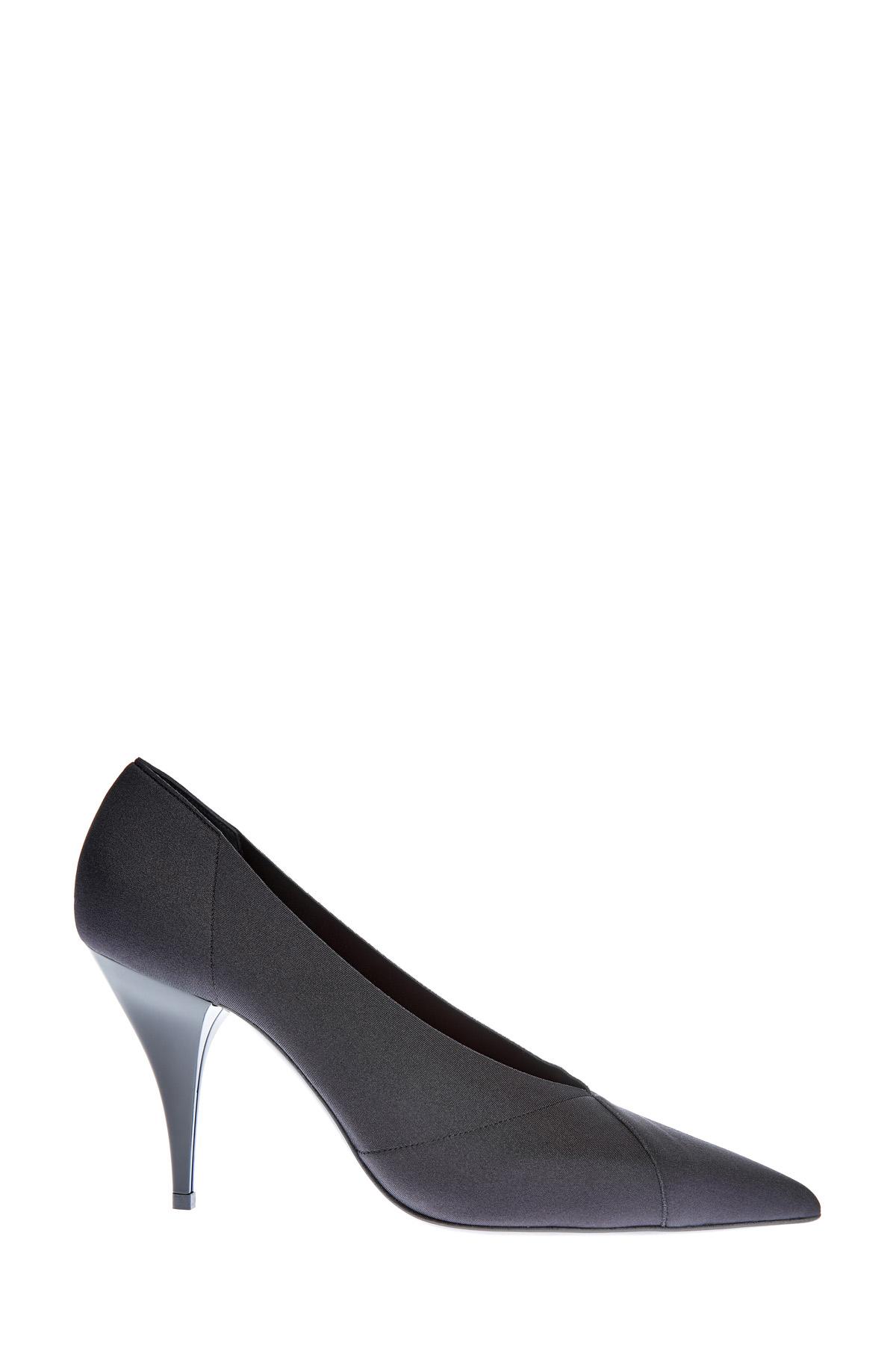 Туфли-лодочки из лайкры с шелковой текстурой и каблуком Delfina