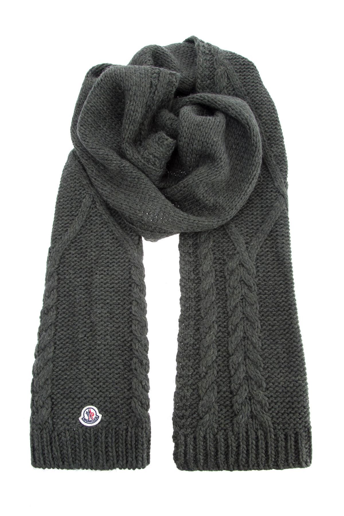 Теплый шарф из пряжи на основе шерсти альпаки плотностью 3 gg