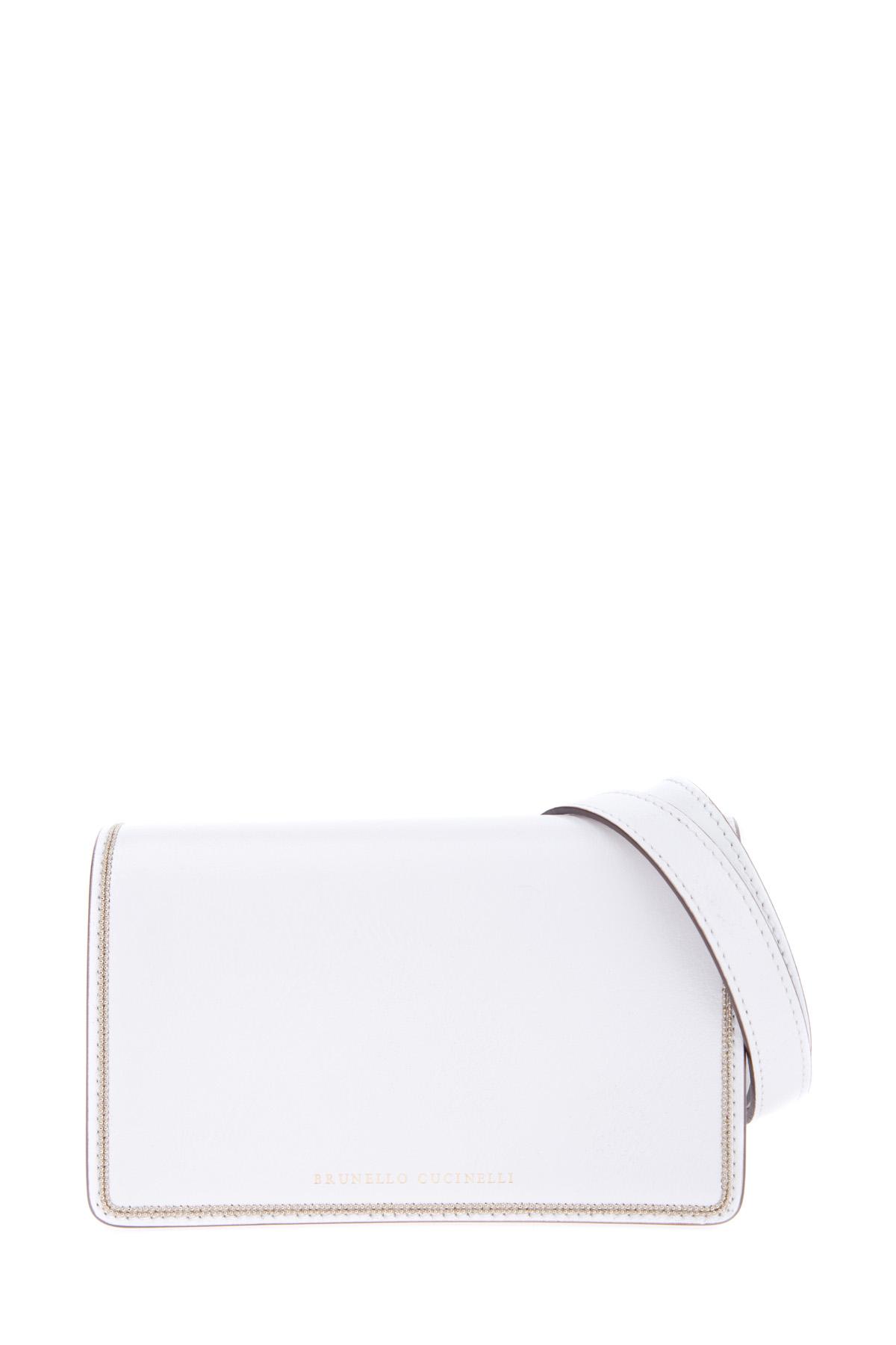 Купить Миниатюрная сумка для носки на плече или на поясе, BRUNELLO CUCINELLI, Италия, кожа 100%