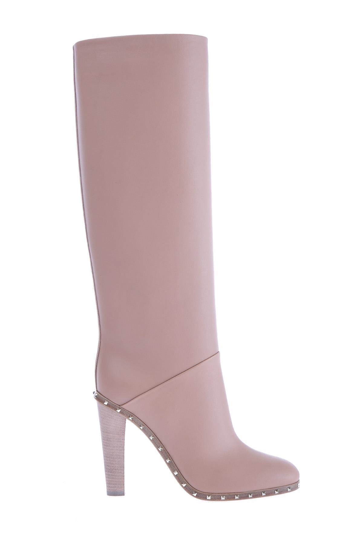женские сапоги на каблуке valentino