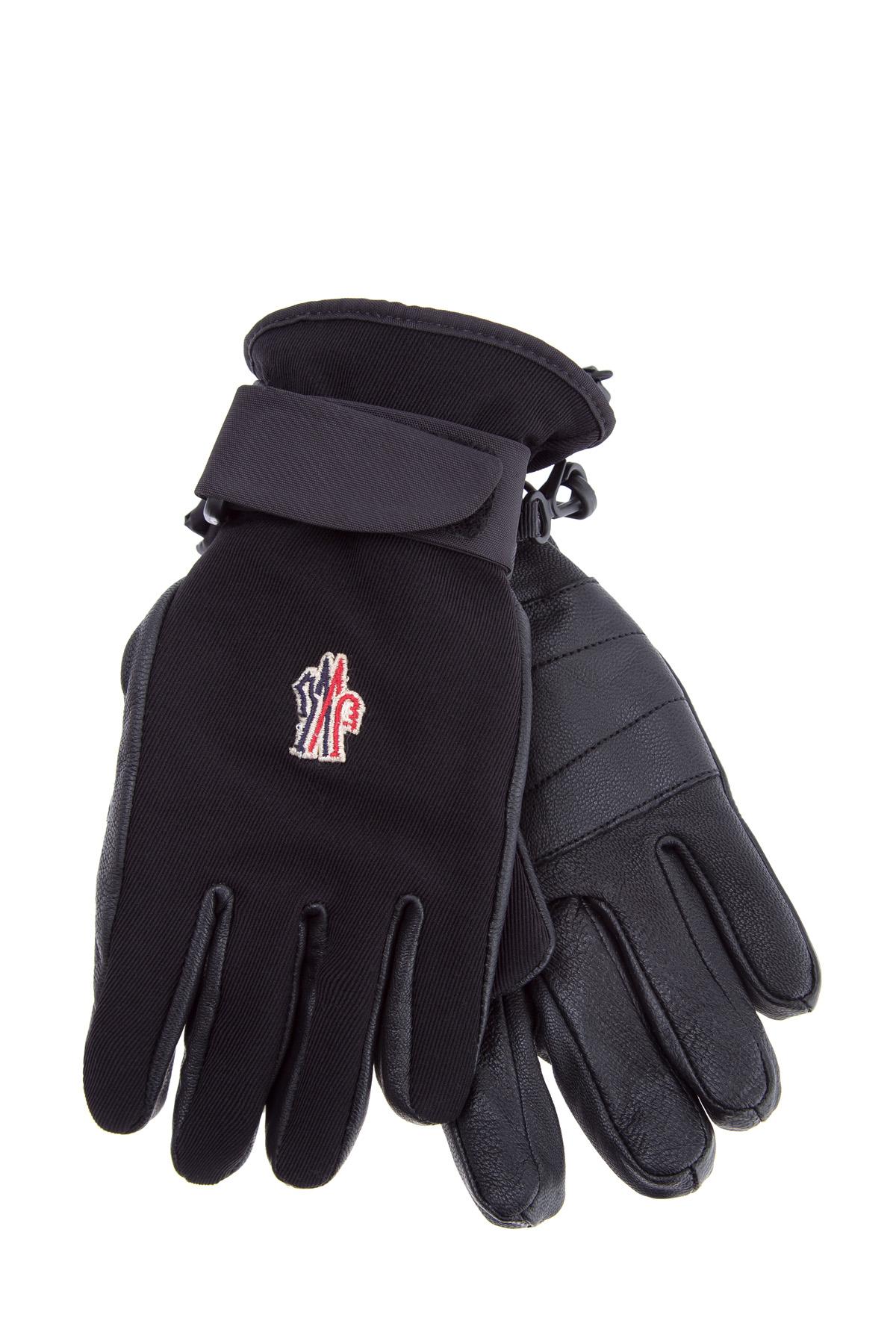 Перчатки для зимних видов спорта из кожи и нейлона