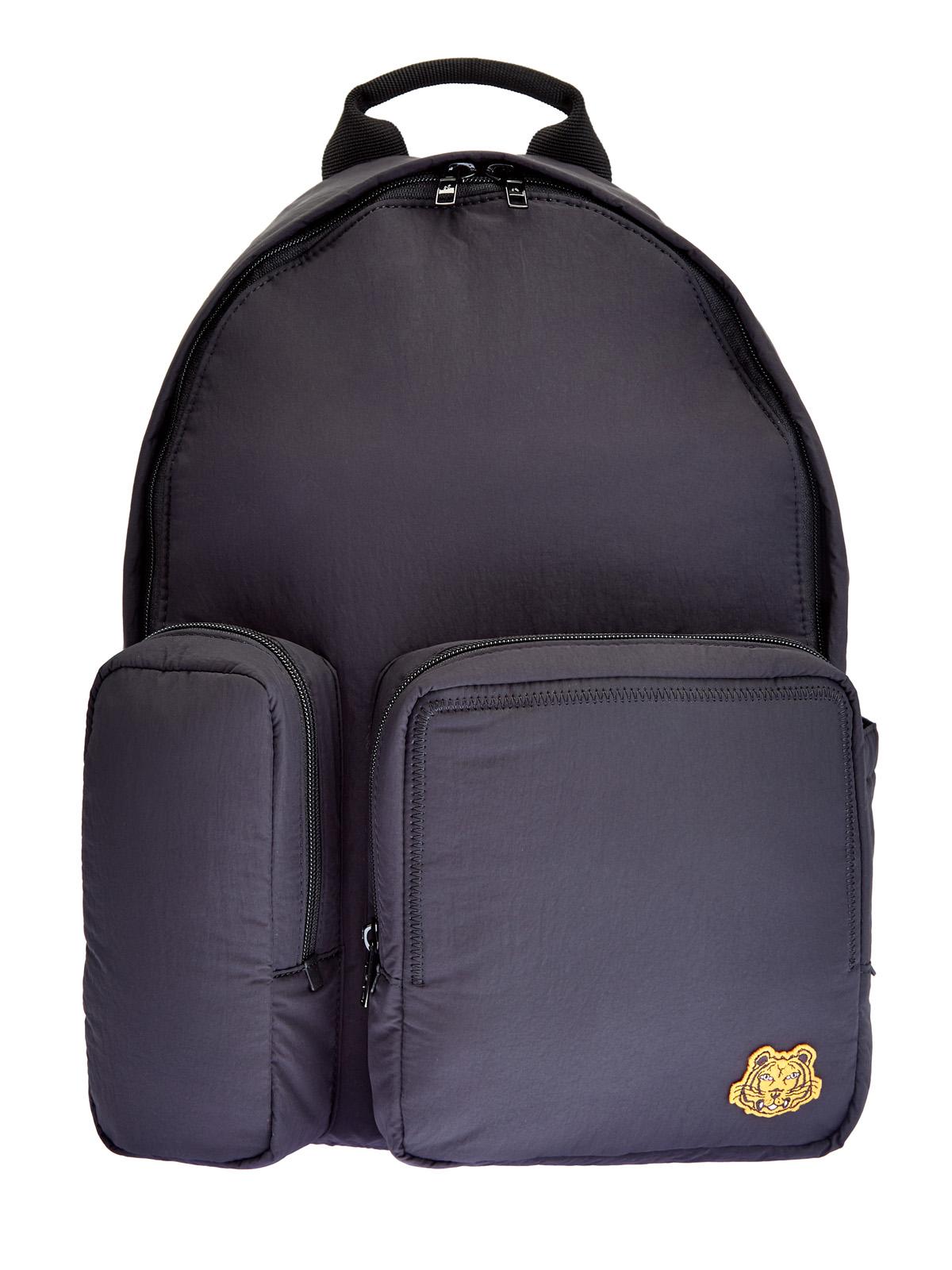 Рюкзак из нейлона с асимметричными карманами
