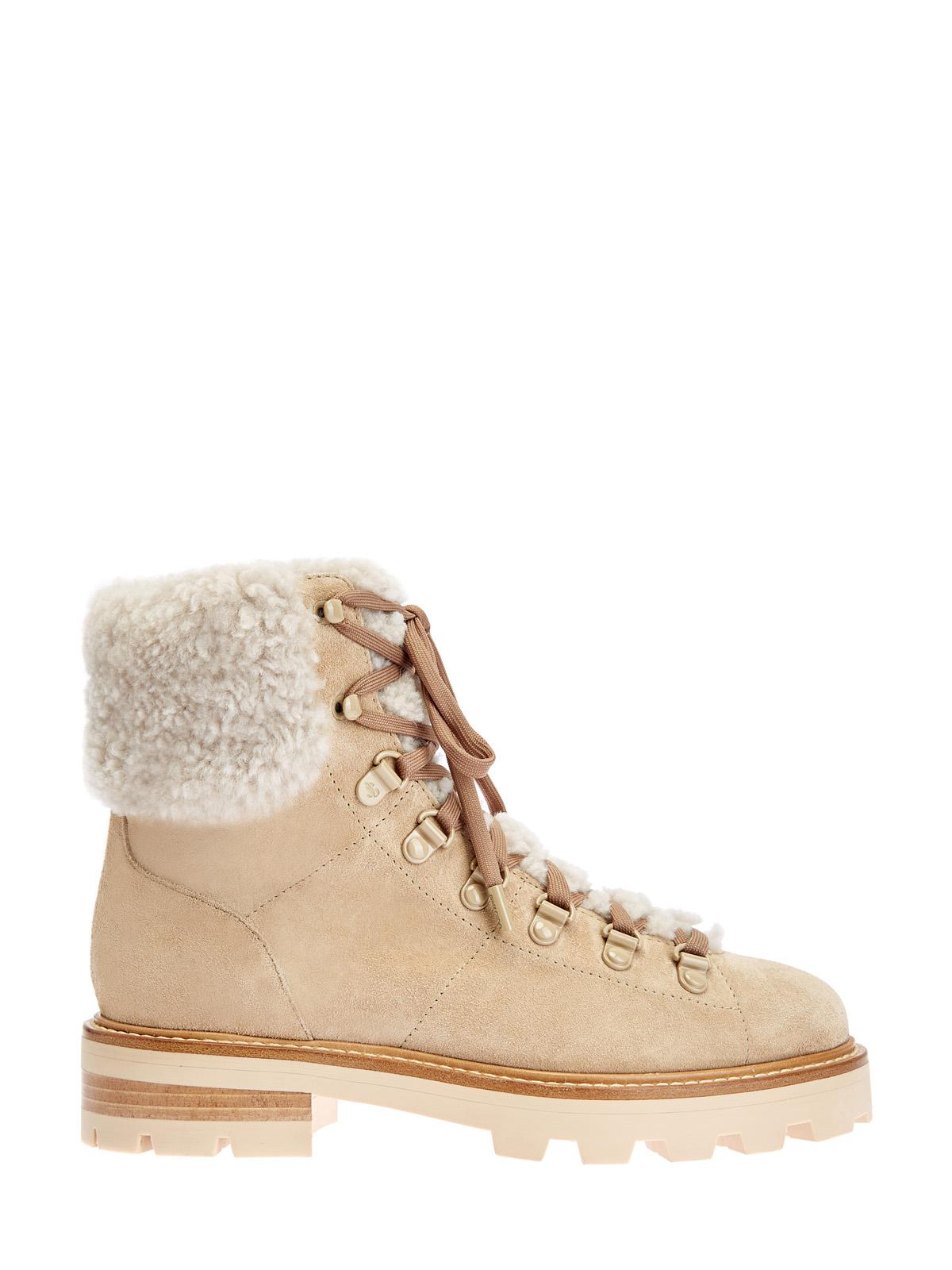 Замшевые ботинки Eshe с отделкой из натуральной овчины