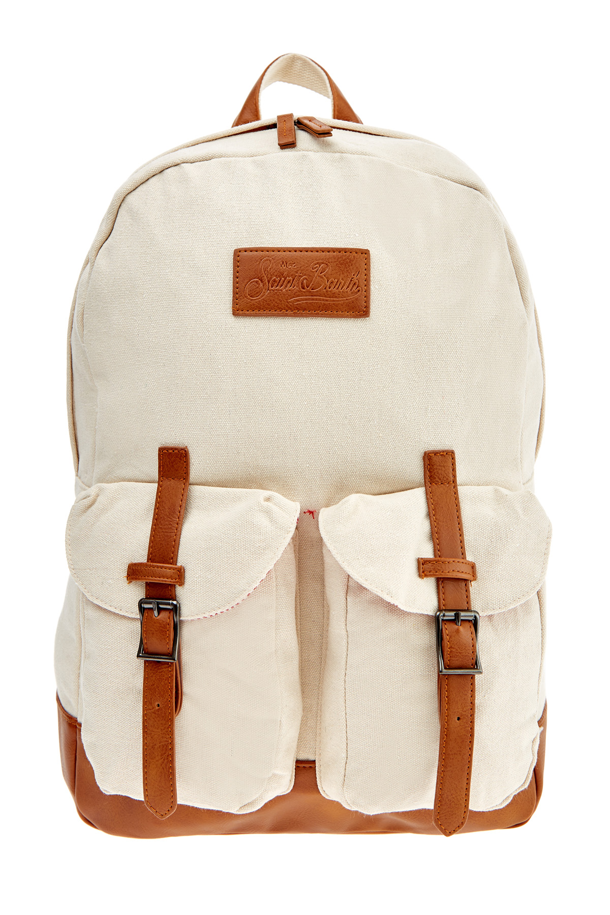 Купить со скидкой Вместительный рюкзак из парусиновой ткани с кожаной отделкой