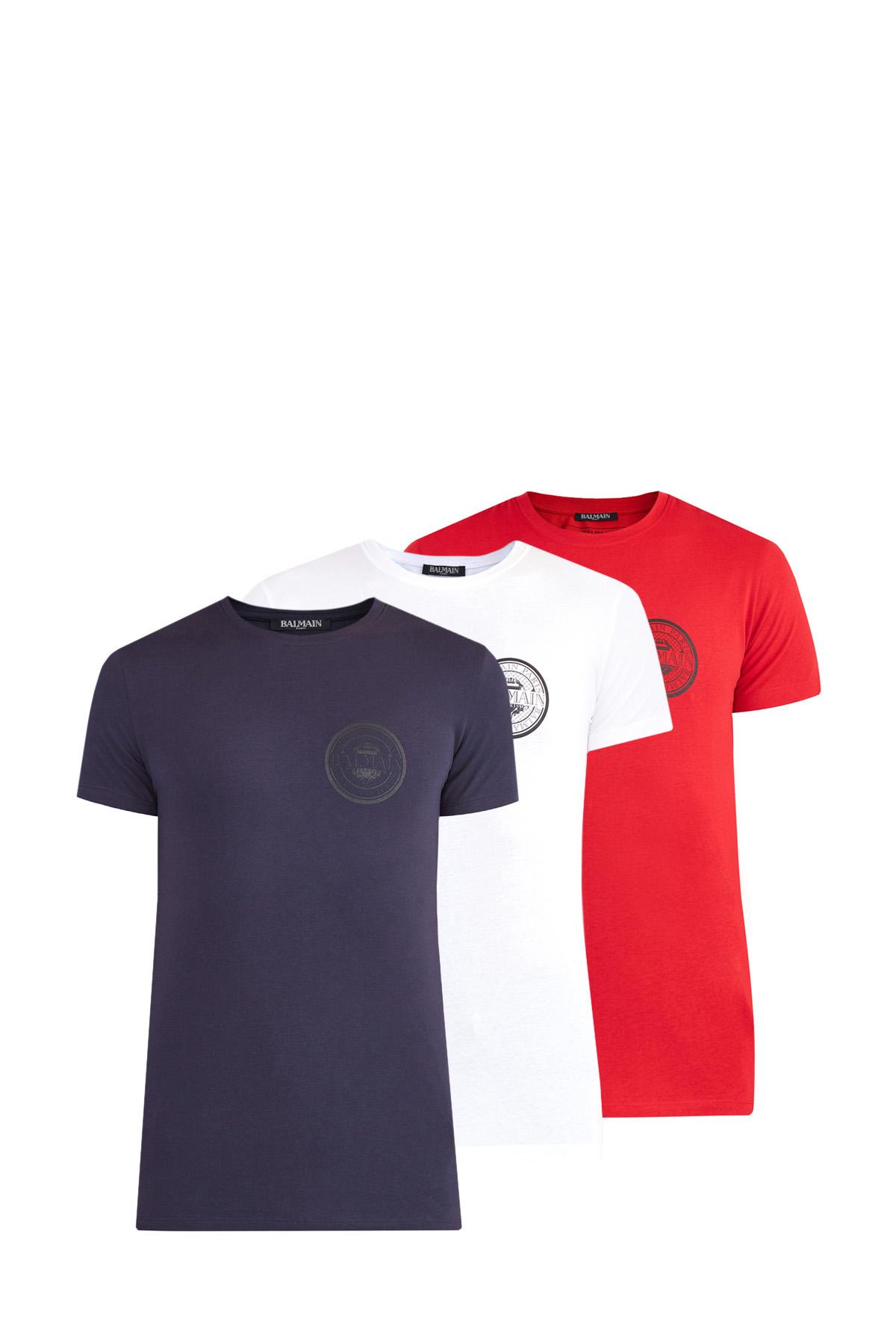 Купить Комплект футболок, BALMAIN, Италия, хлопок 100%