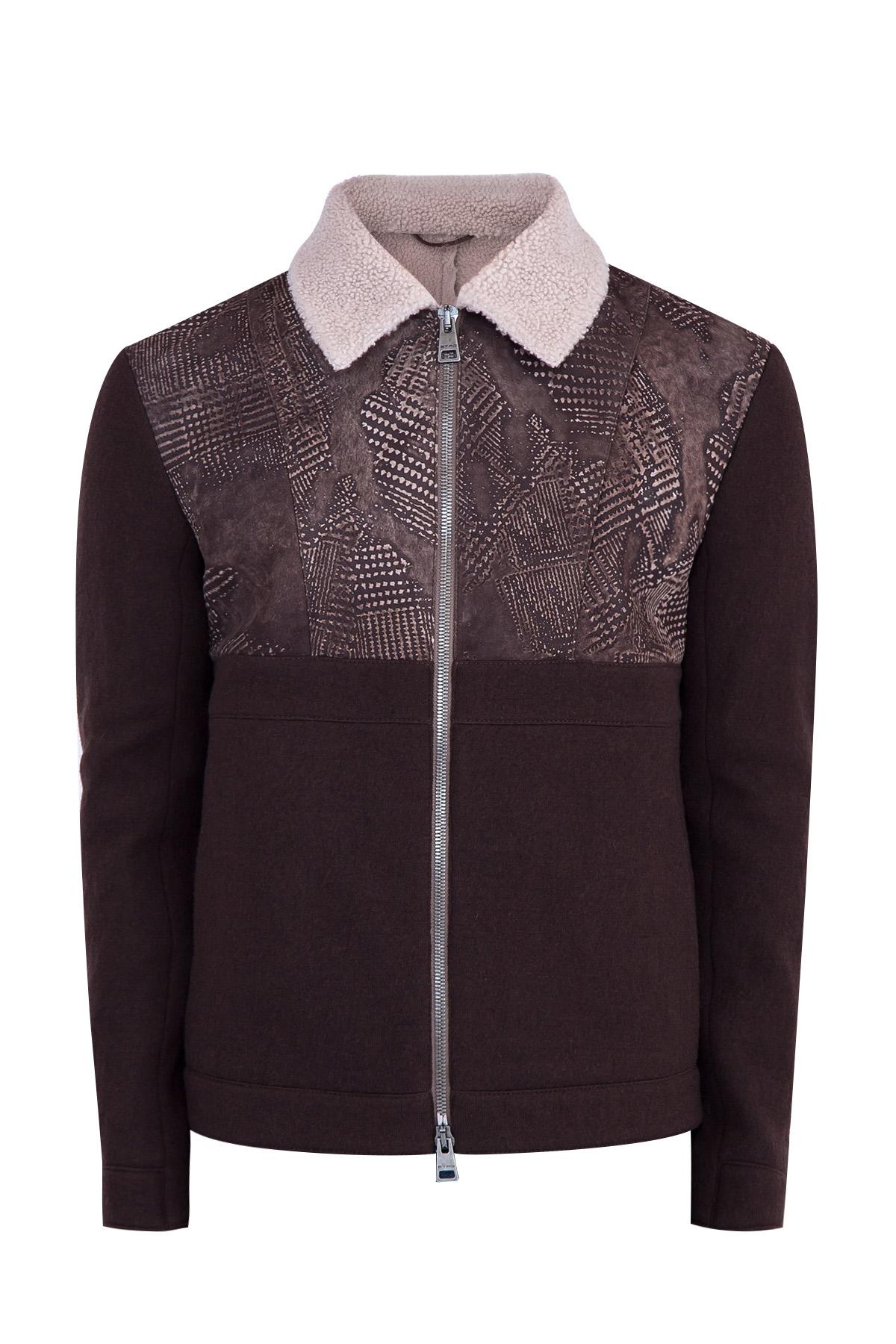 Купить Куртка, ETRO, Италия, шерсть 98%, нейлон 2%, замша 100%, овчина 100%