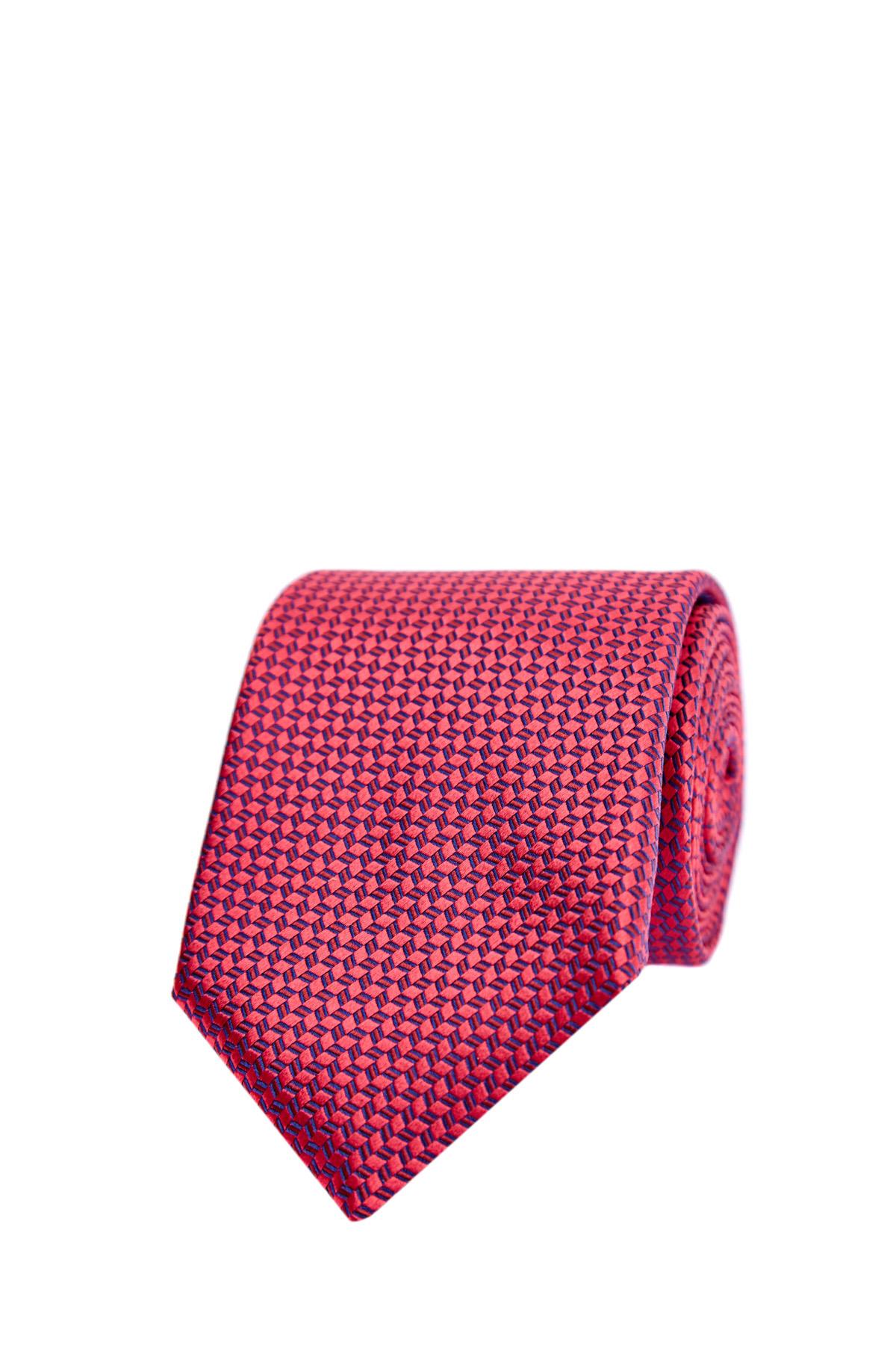 Купить Галстук из плотного шелка с жаккардовым геометрическим узором, CANALI, Италия, шелк 100%