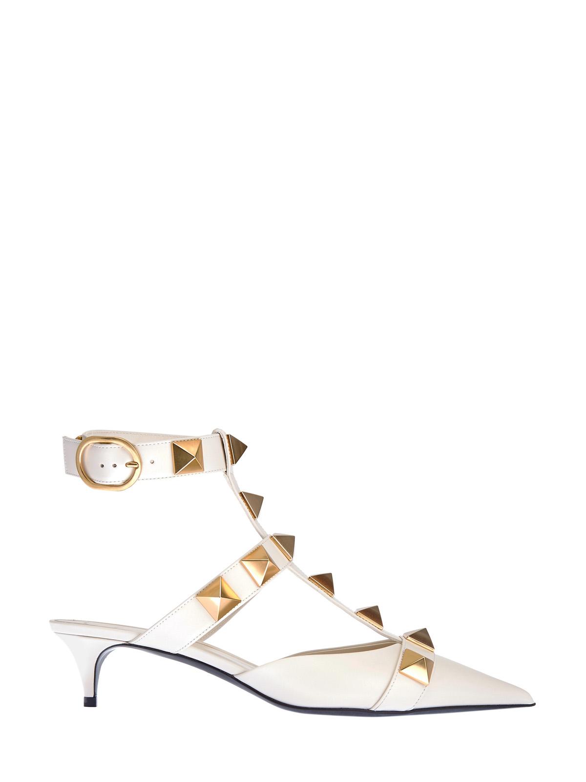 Кожаные туфли Roman Stud с каблуком kitten-heel