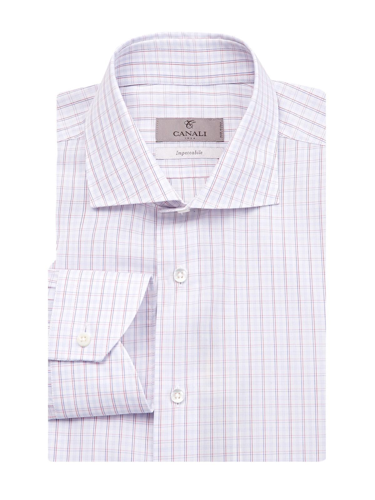 Рубашка из хлопка с жаккардовым принтом в клетку